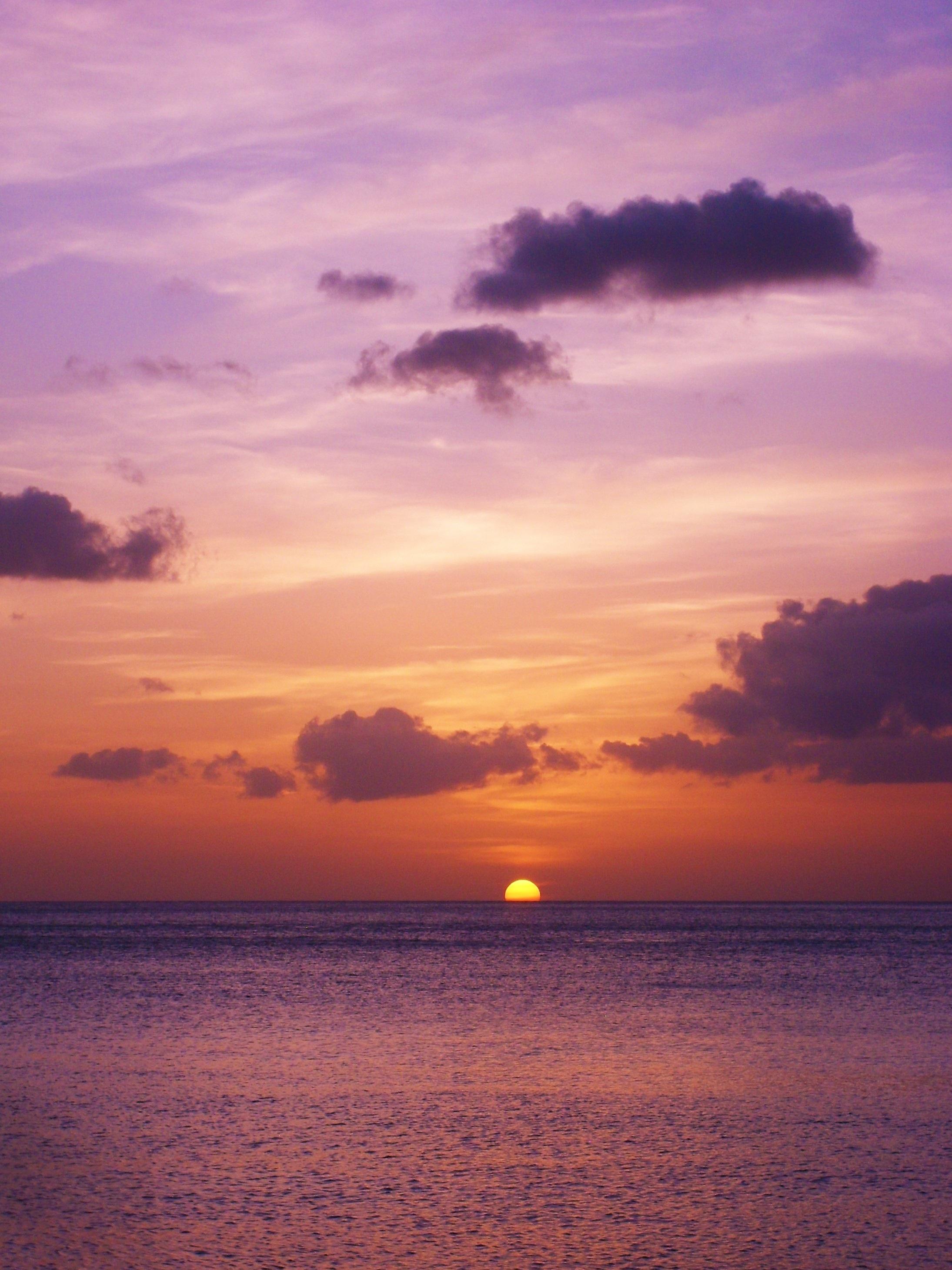 Gambar Pantai Pemandangan Lautan Horison Awan Matahari Terbit