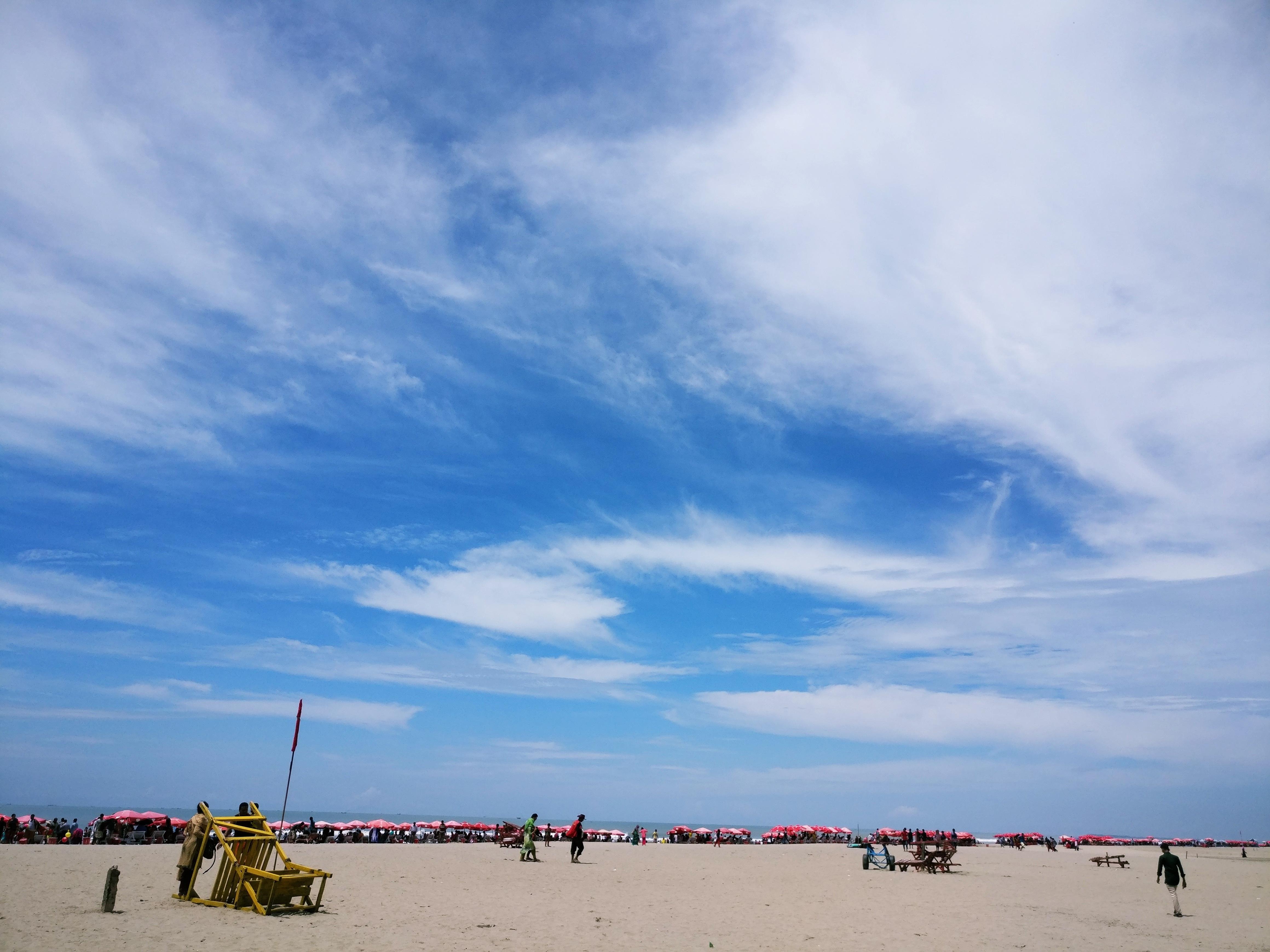Gambar : pantai, pemandangan, laut, pasir, lautan, horison ...