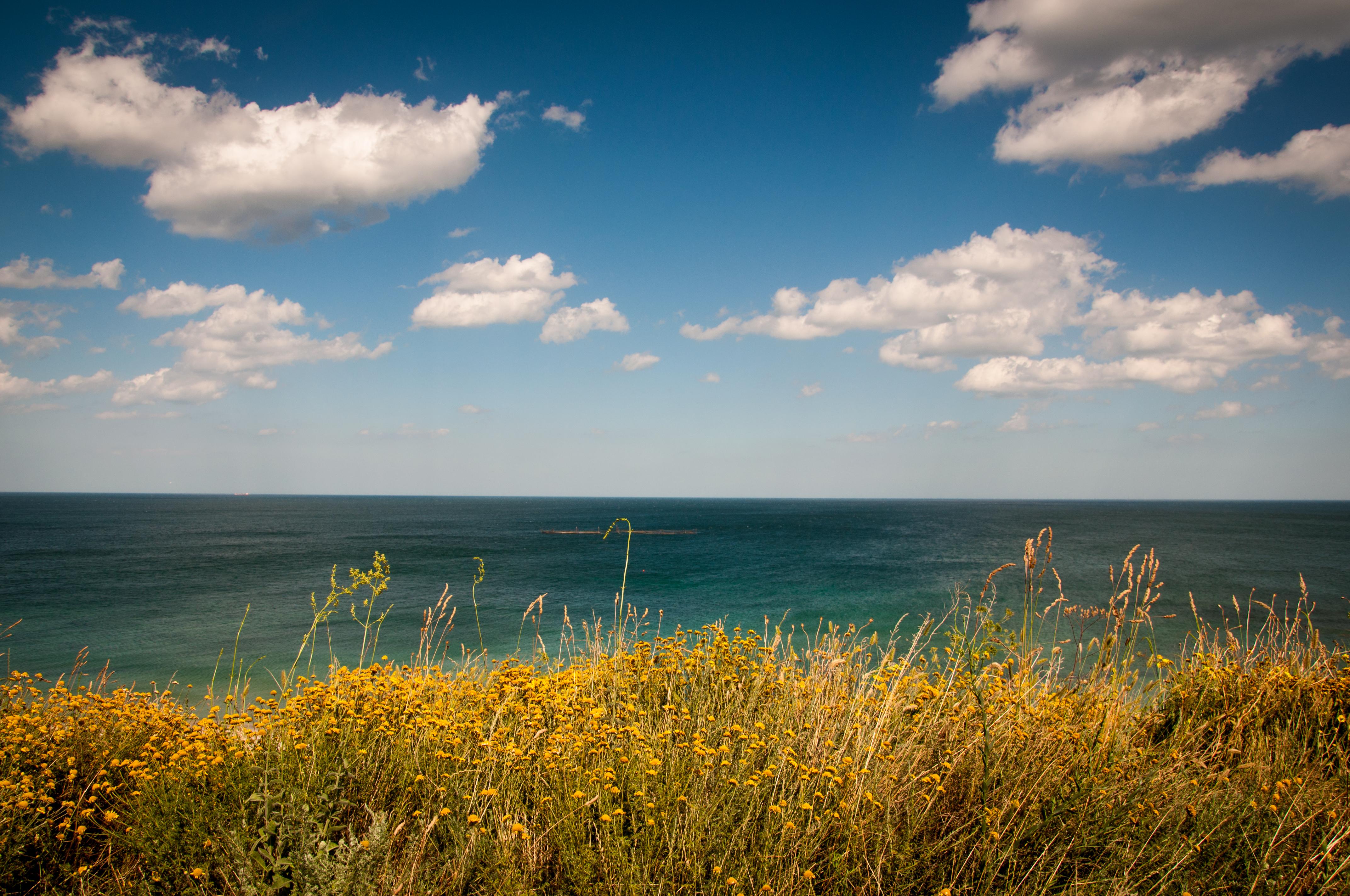 природа море берег небо горизонт  № 3776922 загрузить