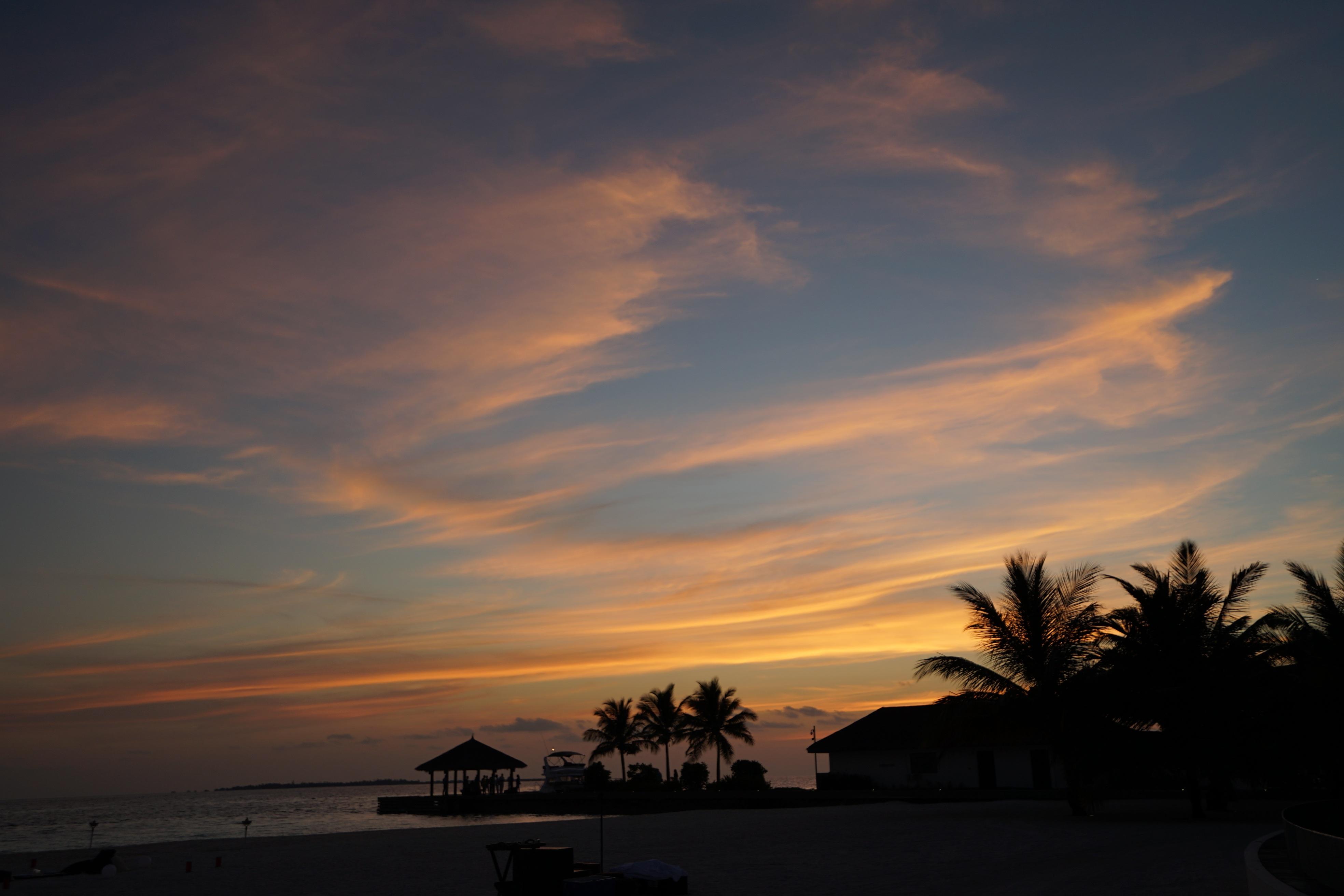 Beach Landscape Sea Horizon Cloud Sky Sun Sunrise Sunset Sunlight Morning Dawn Atmosphere Dusk Evening Maldives