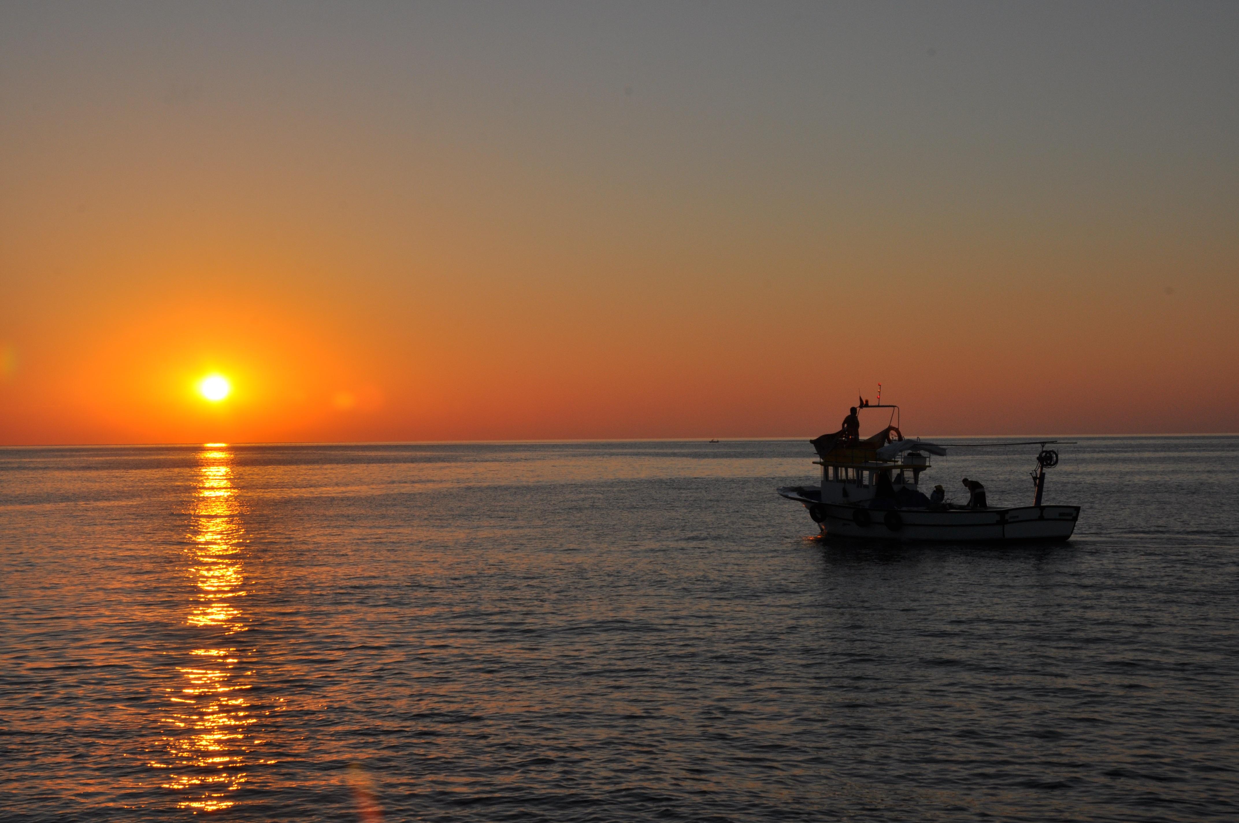 Gambar Pemandangan Laut Alam Lautan Horison Langit Matahari