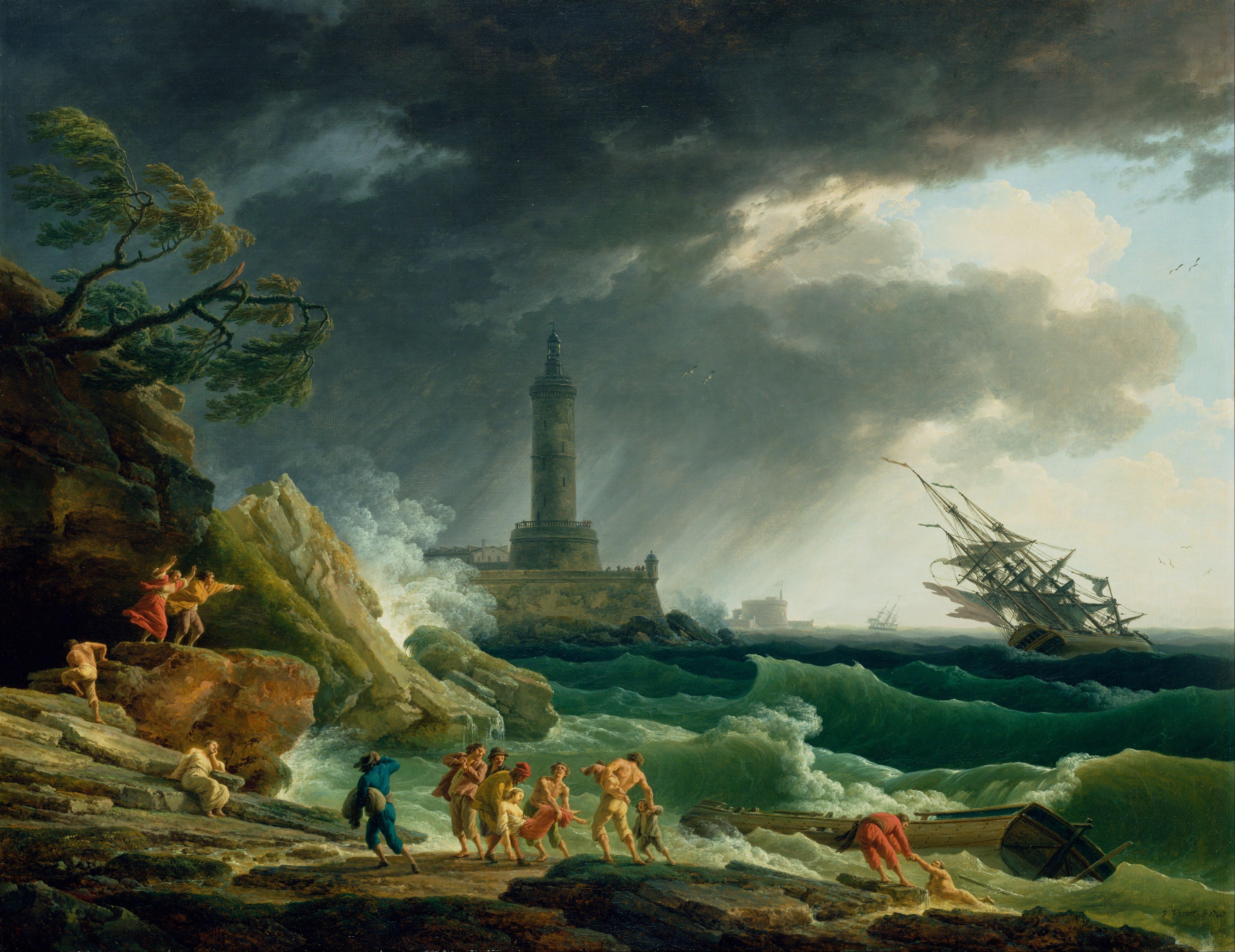 Beach Landscape Sea Water Nature Ocean People Sky Storm Artistic Terrain Painting Rocks Outside Clouds Screenshot