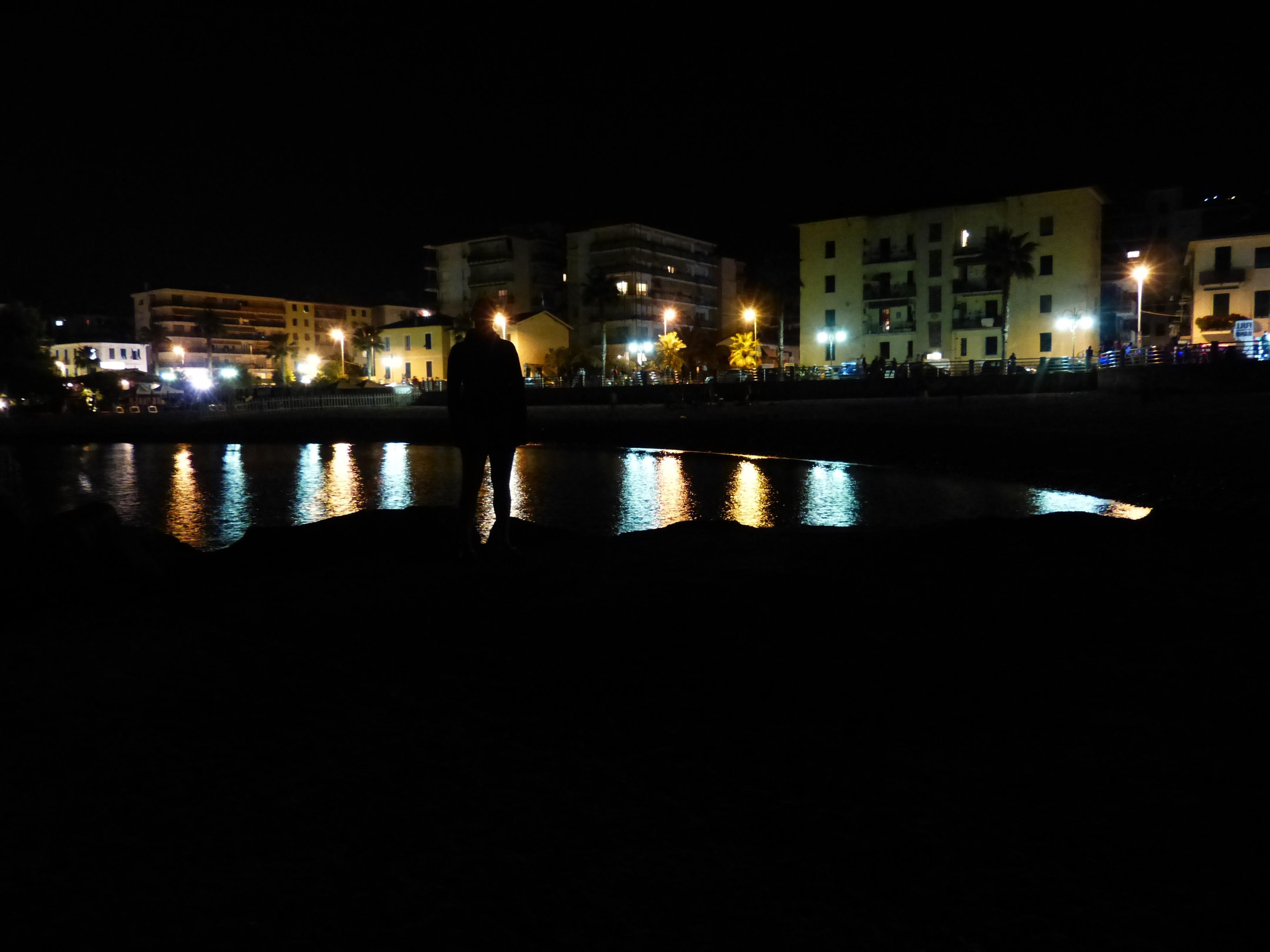 Beach Light Skyline Night Cityscape Dusk Evening Reflection Darkness Lighting At Lights Bank Reflections Sea
