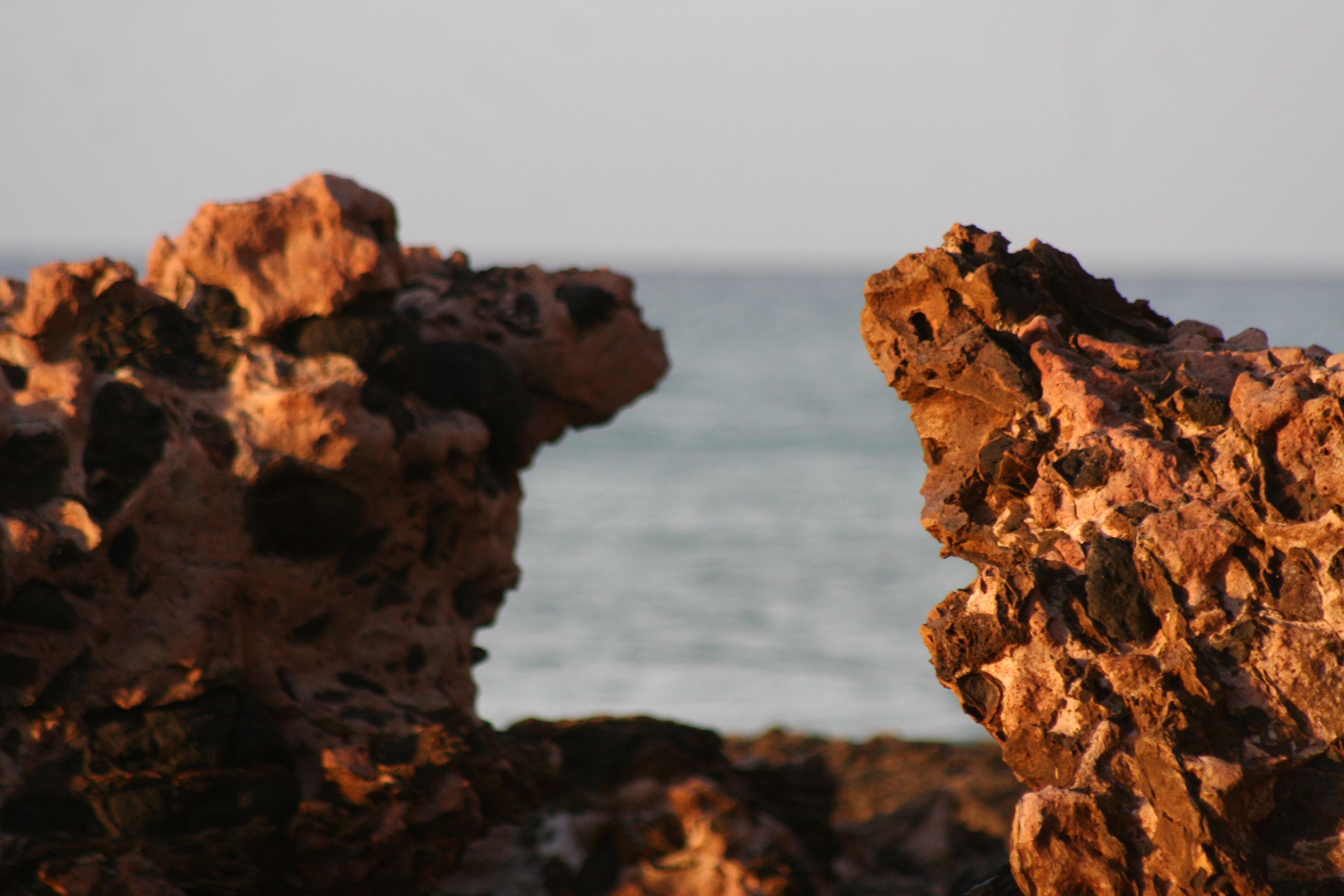 Bờ Biển Đá Bầu Trời Đá Lửa Phong Cảnh