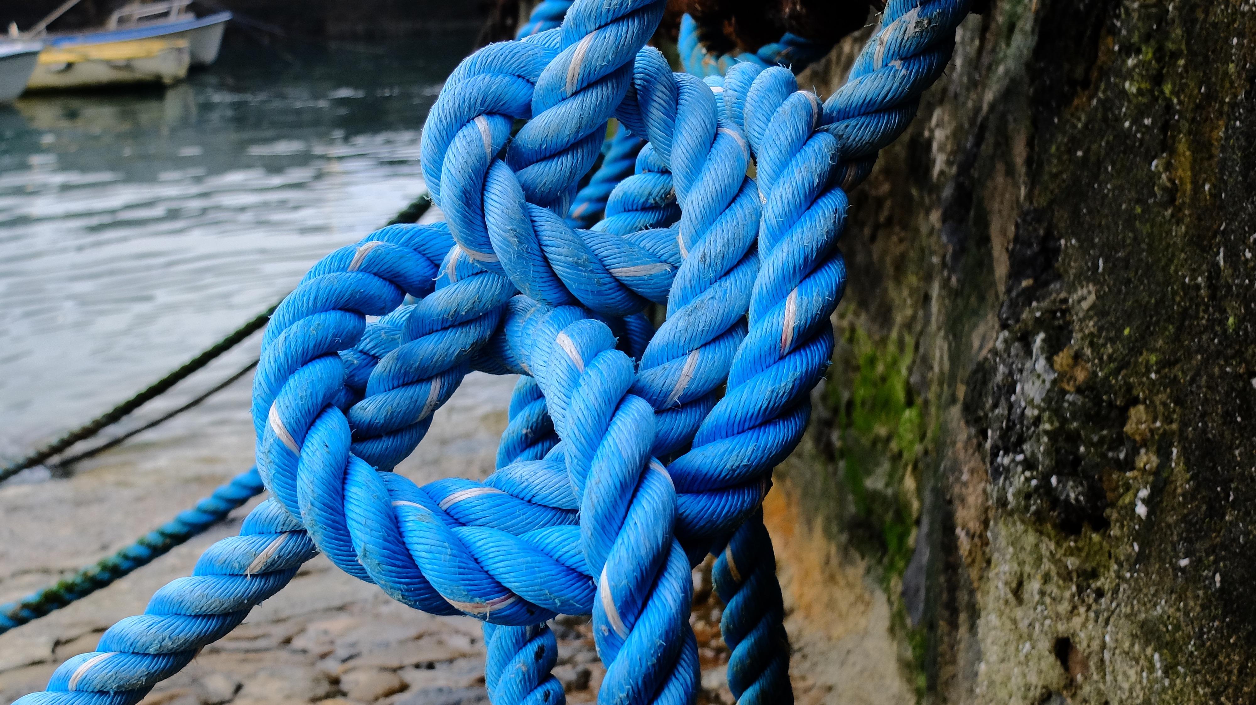 Beach Rope Line Color Tie Blue Material Fastener Thread Textile