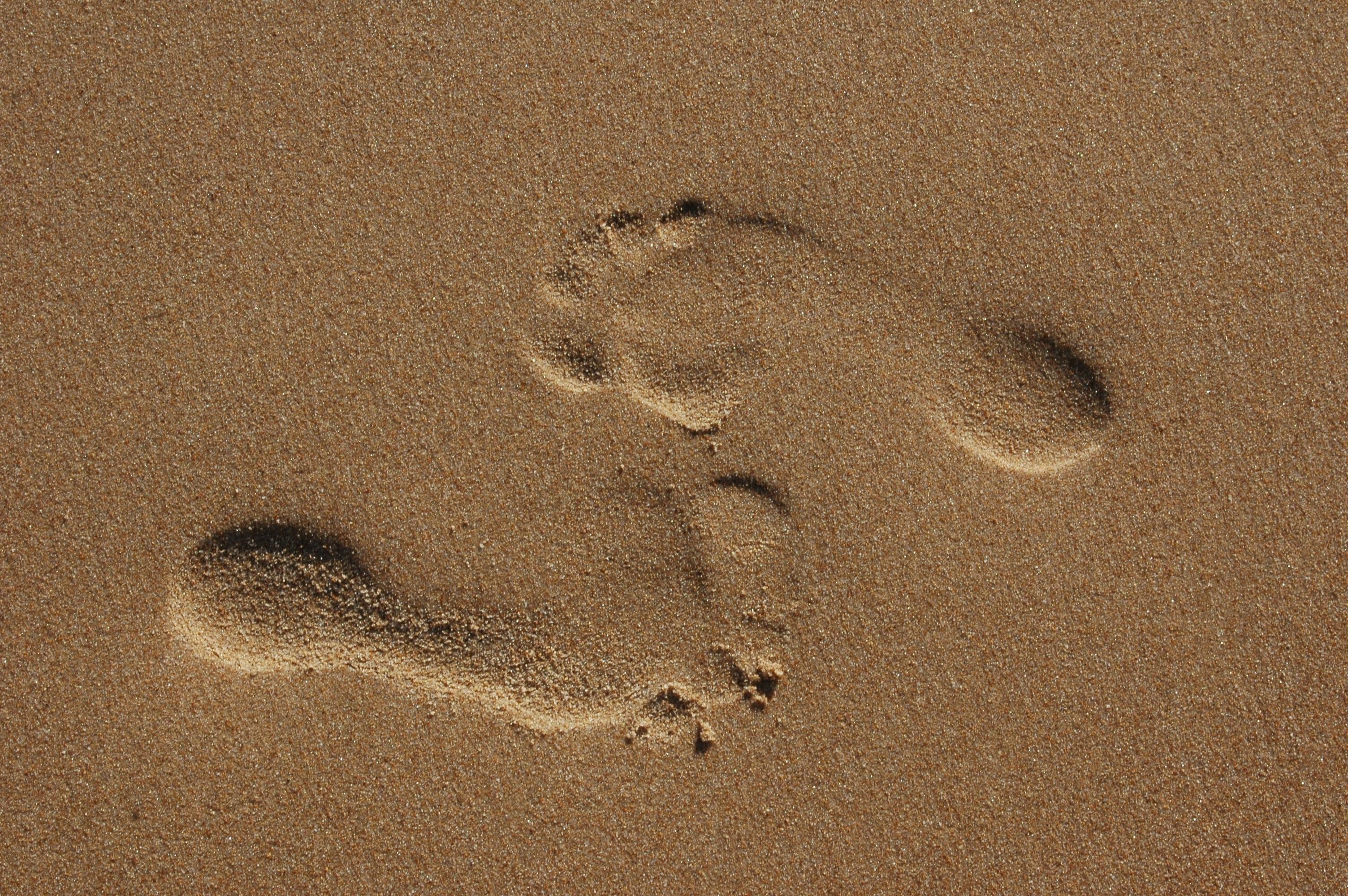 картинка песок отпечатки