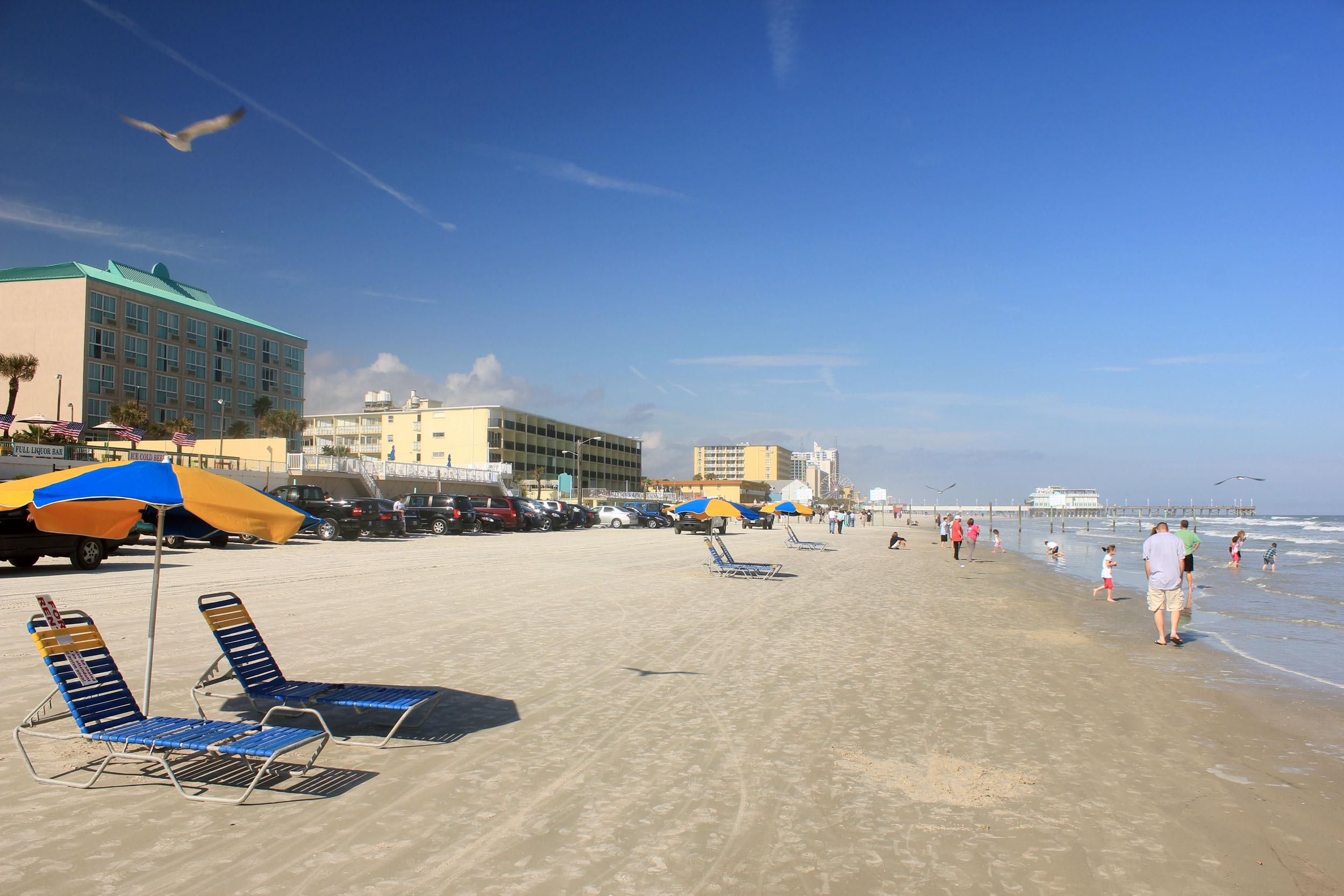 Beach Sea Coast Ocean Boardwalk Walkway Vacation Usa America Florida Daytona Atmosphere Of Earth