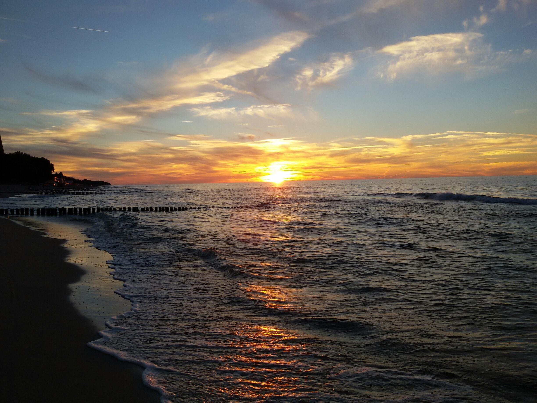 Kostenlose foto strand meer ozean horizont wolke himmel sonnenaufgang sonnenuntergang - Palpitations le soir au coucher ...