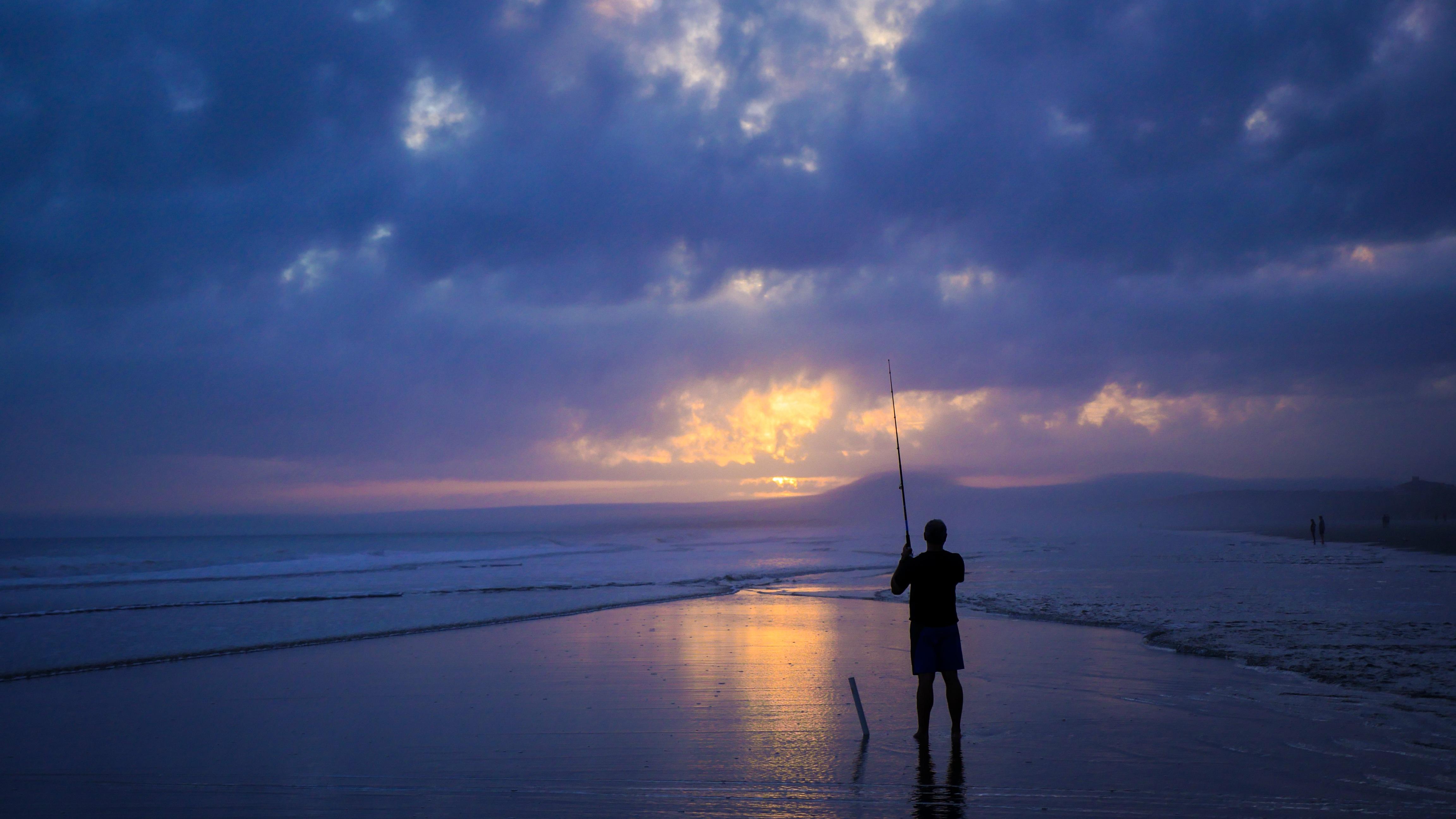Ловля с берега на океане