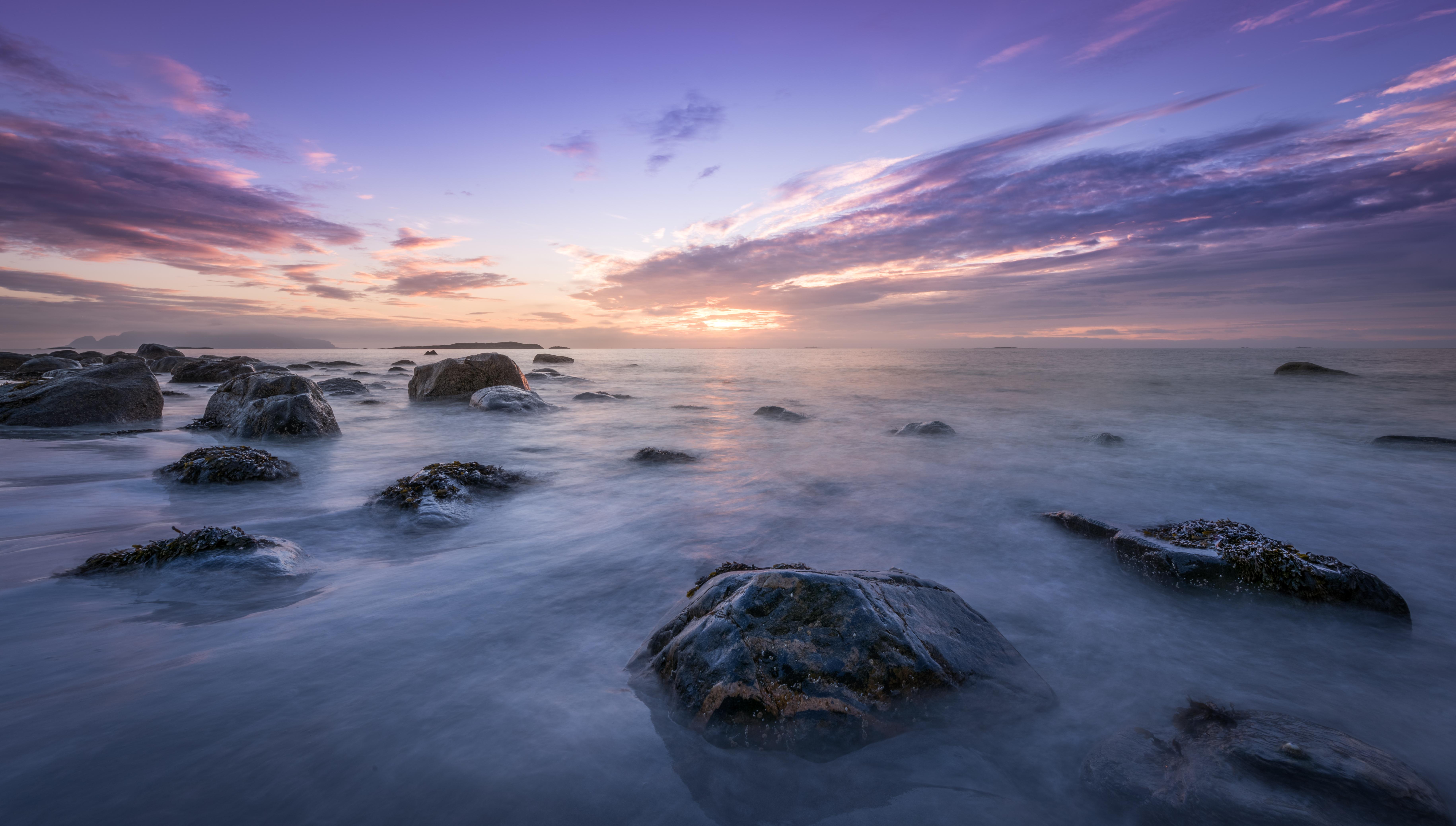 горизонт камни море вода океан природа  № 2556111 бесплатно