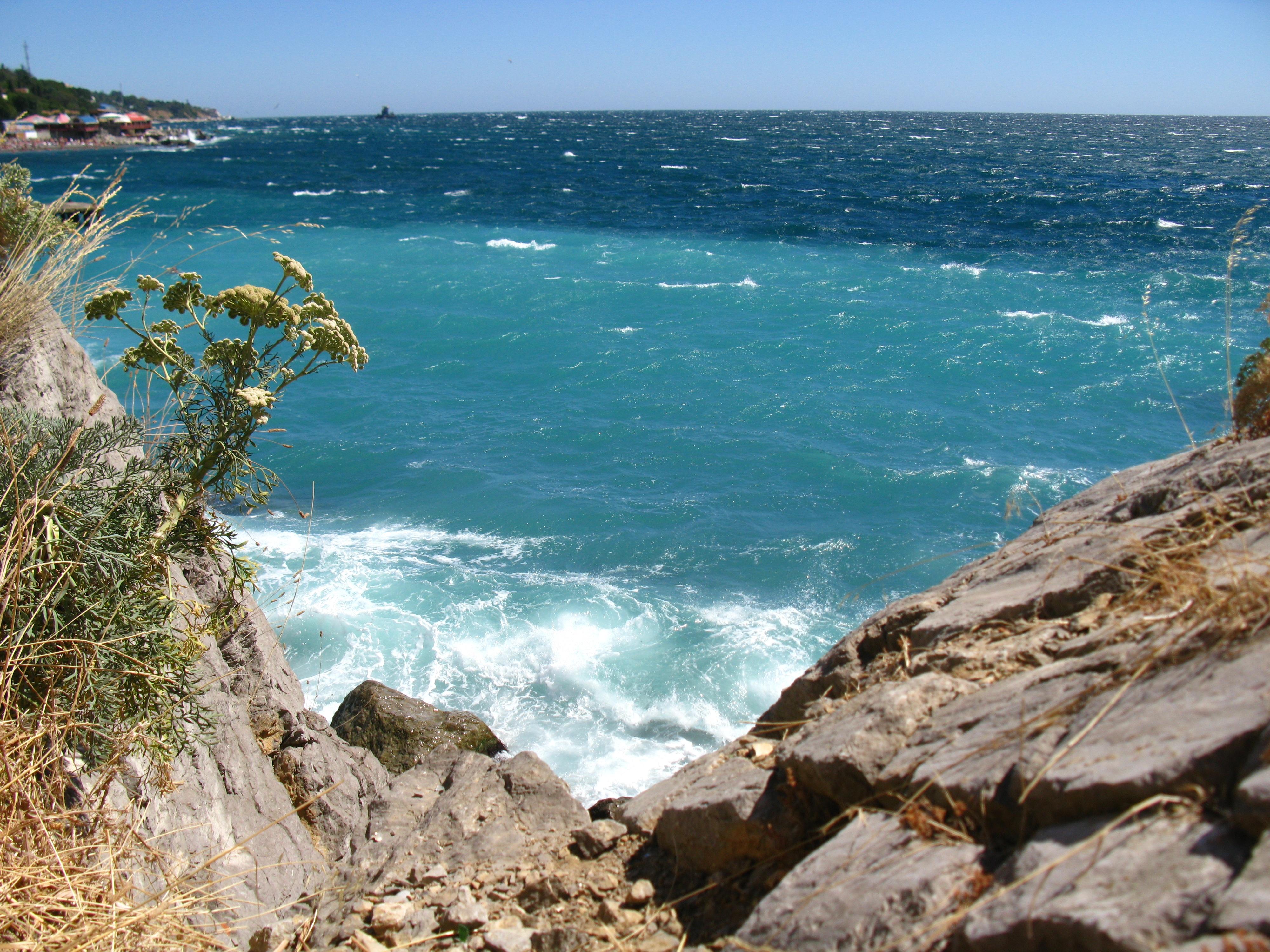 этом фото море пляж черное море его