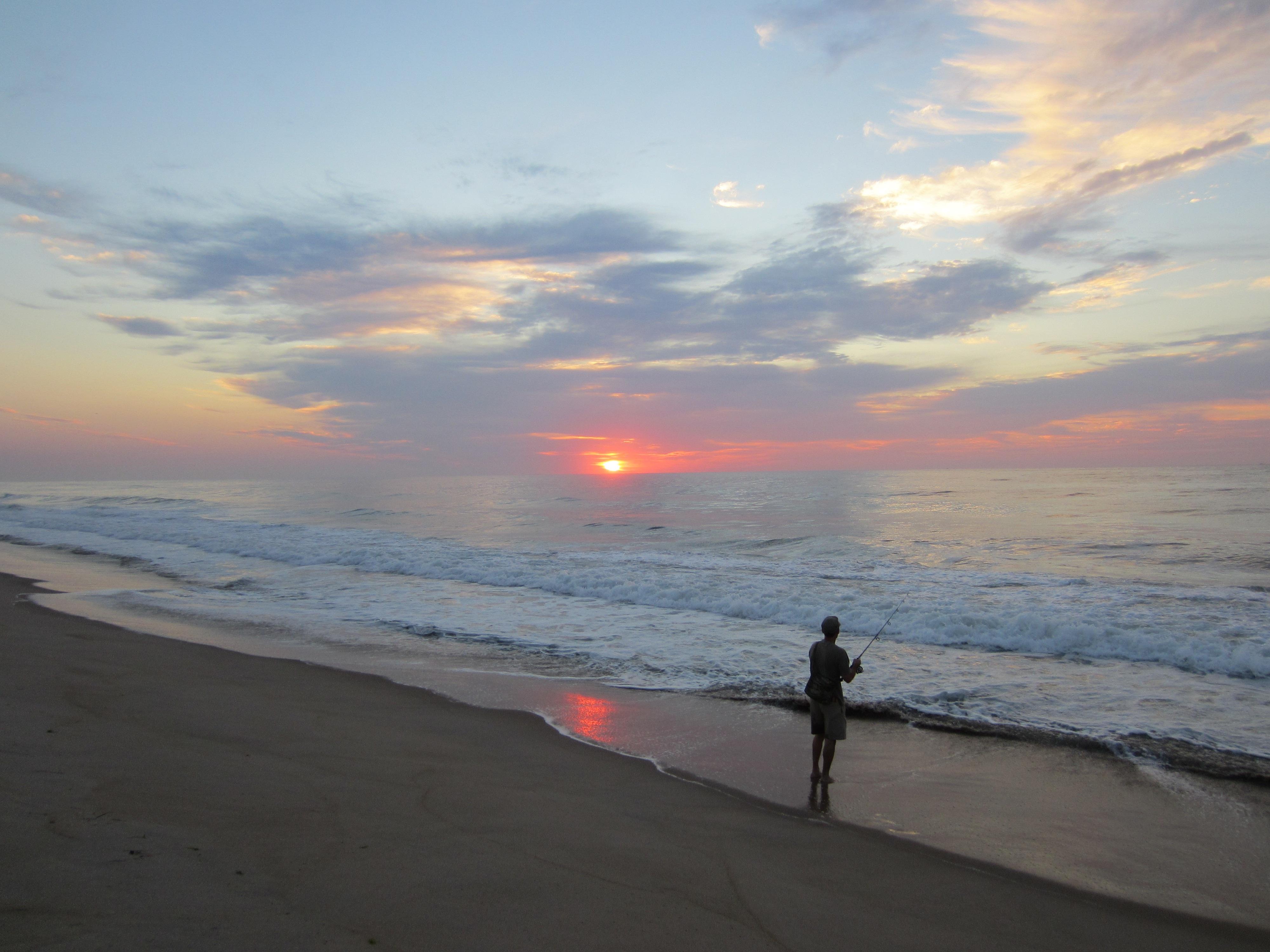 Free images beach sea coast sand ocean horizon for Lbi surf fishing report