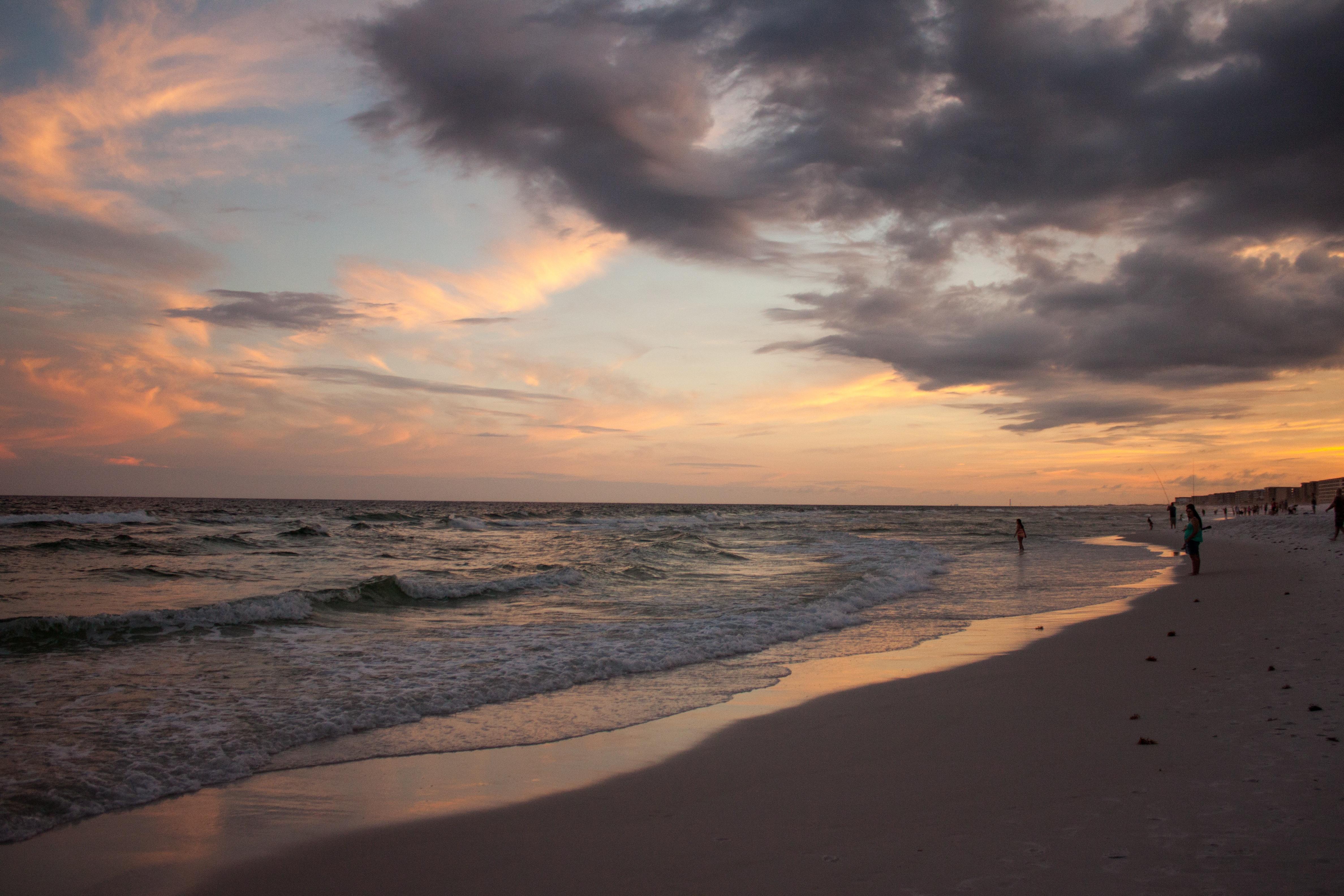 Beach Sea Coast Sand Ocean Horizon Cloud Sky Sun Sunrise Sunset Sunlight Morning Shore Wave Dawn