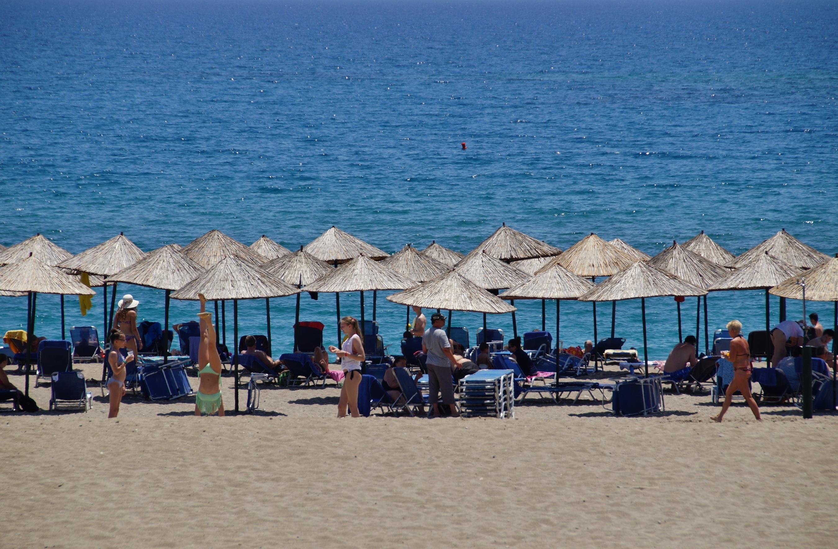 Suggestive beach scene stock photo. Image of summer