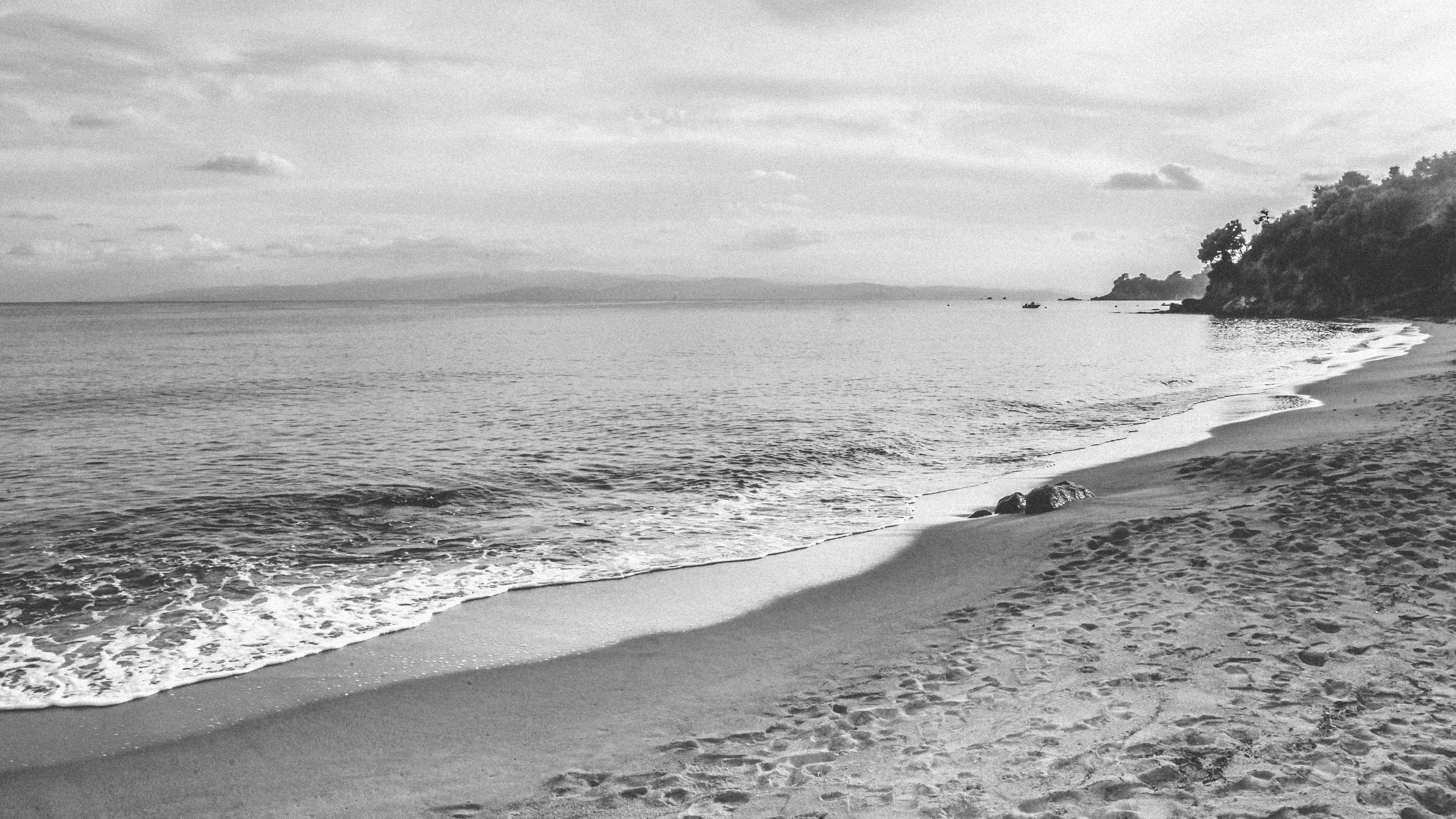 Картинки море солнце пляж черно белые