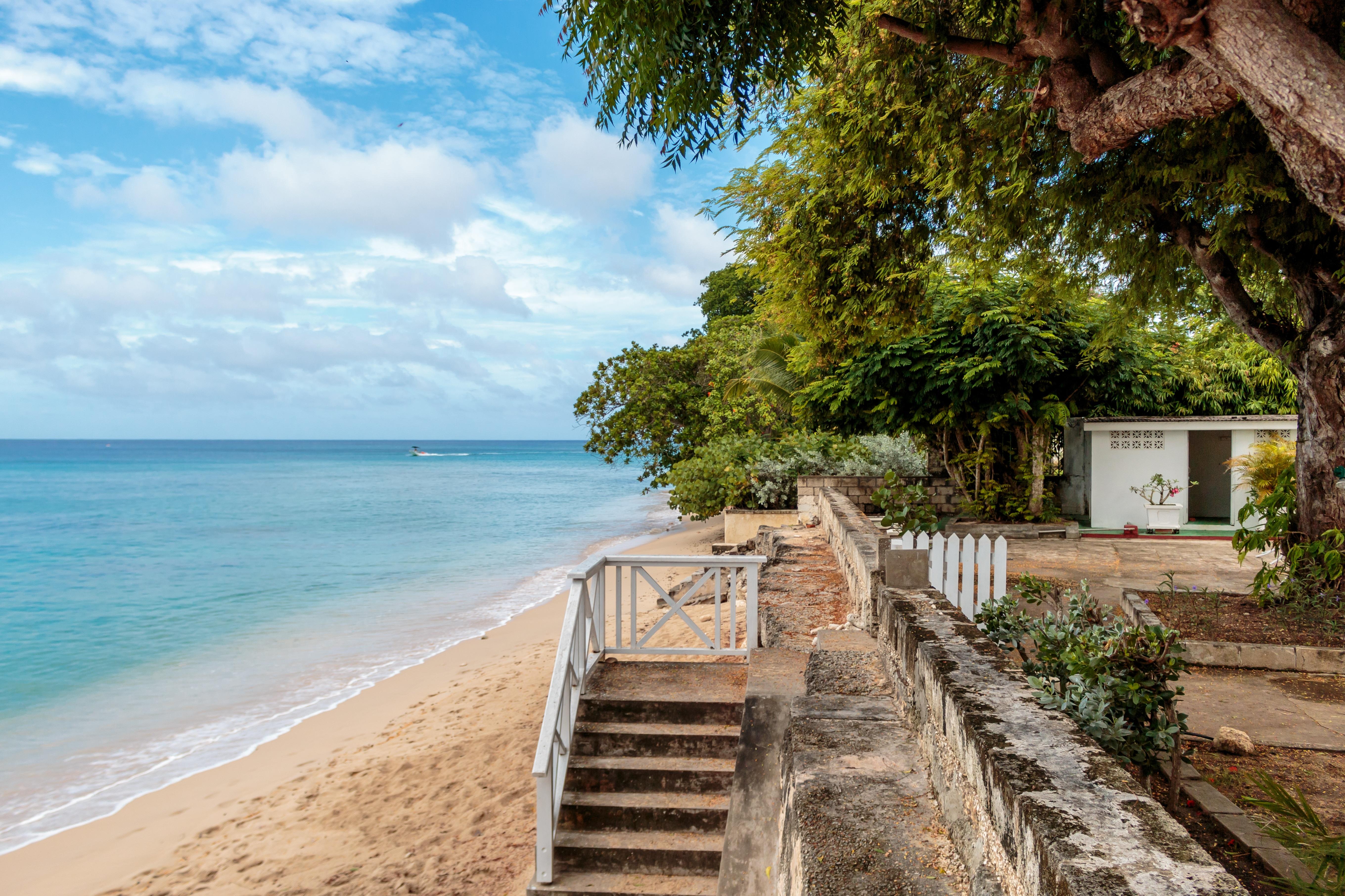 Sea Coast Walkway Vacation Stairs