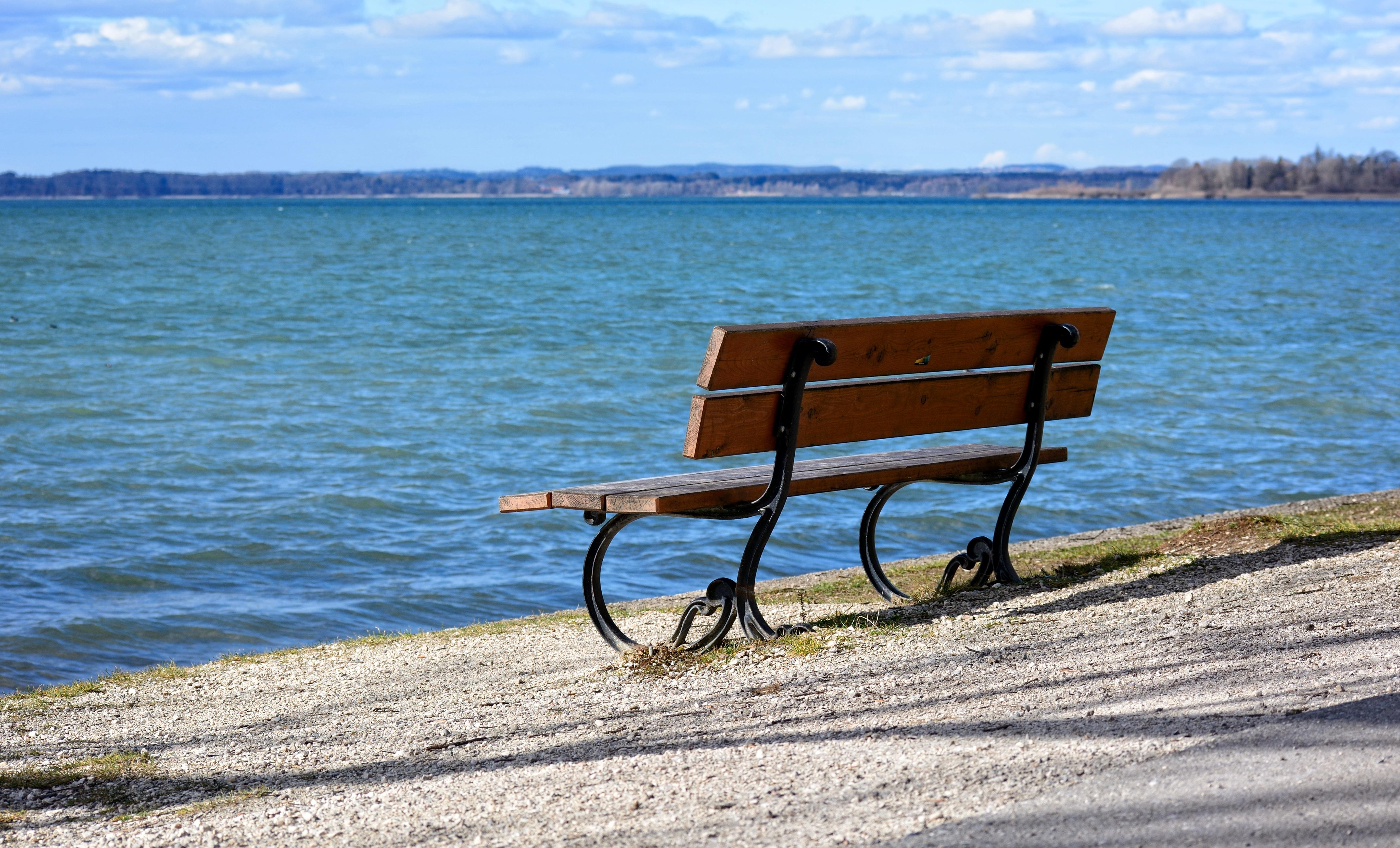 Fotos gratis playa mar costa naturaleza banco - Mueble banco asiento ...