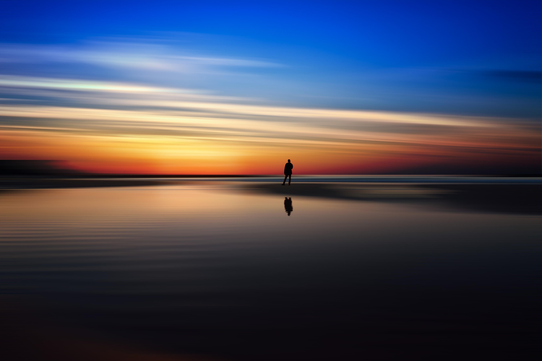 Gambar Air Alam Lautan Horison Bayangan Hitam Awan Langit