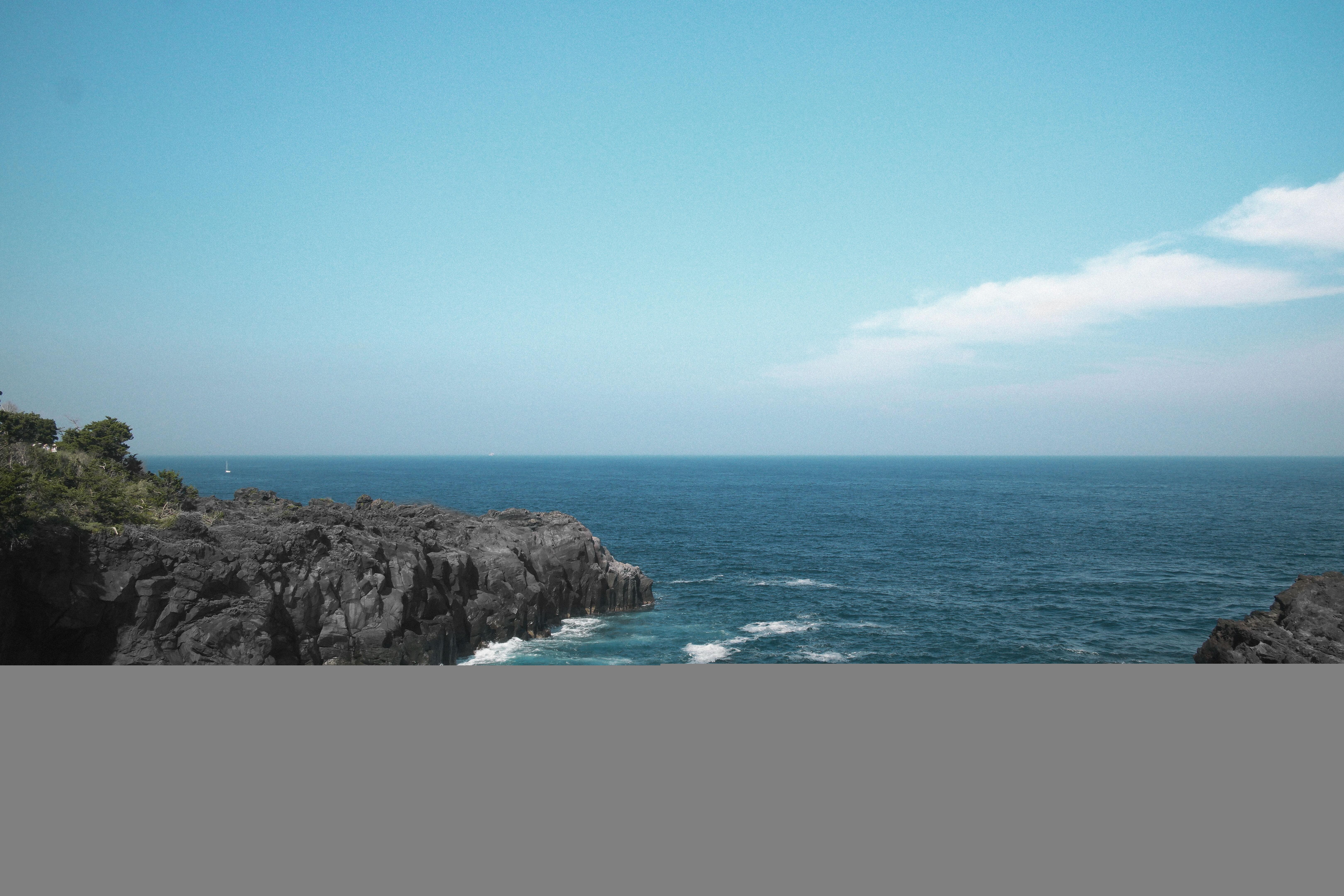 Gambar : alam, batu, lautan, horison, langit, jurang, teluk