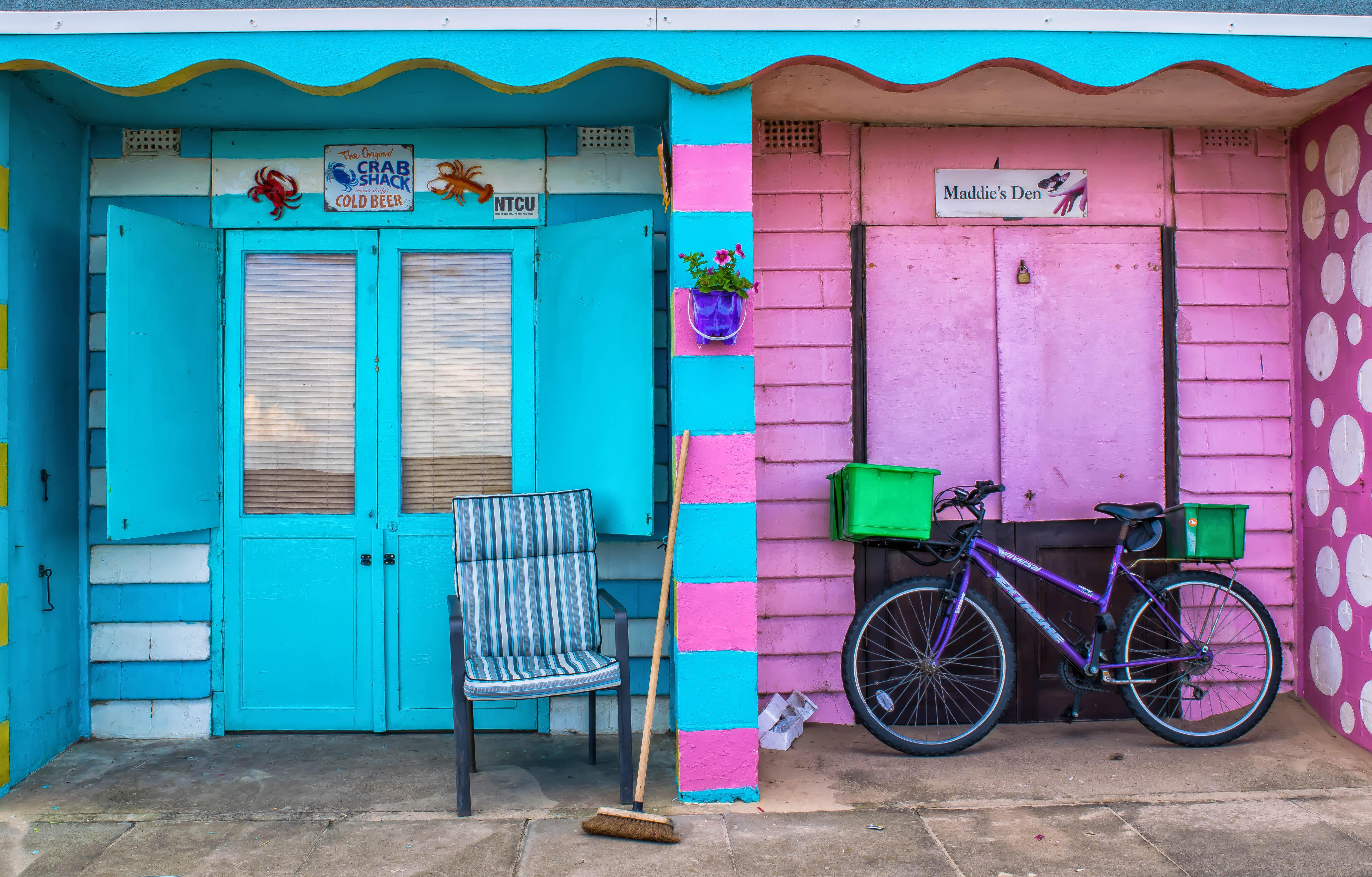 Pink Beach House Exterior