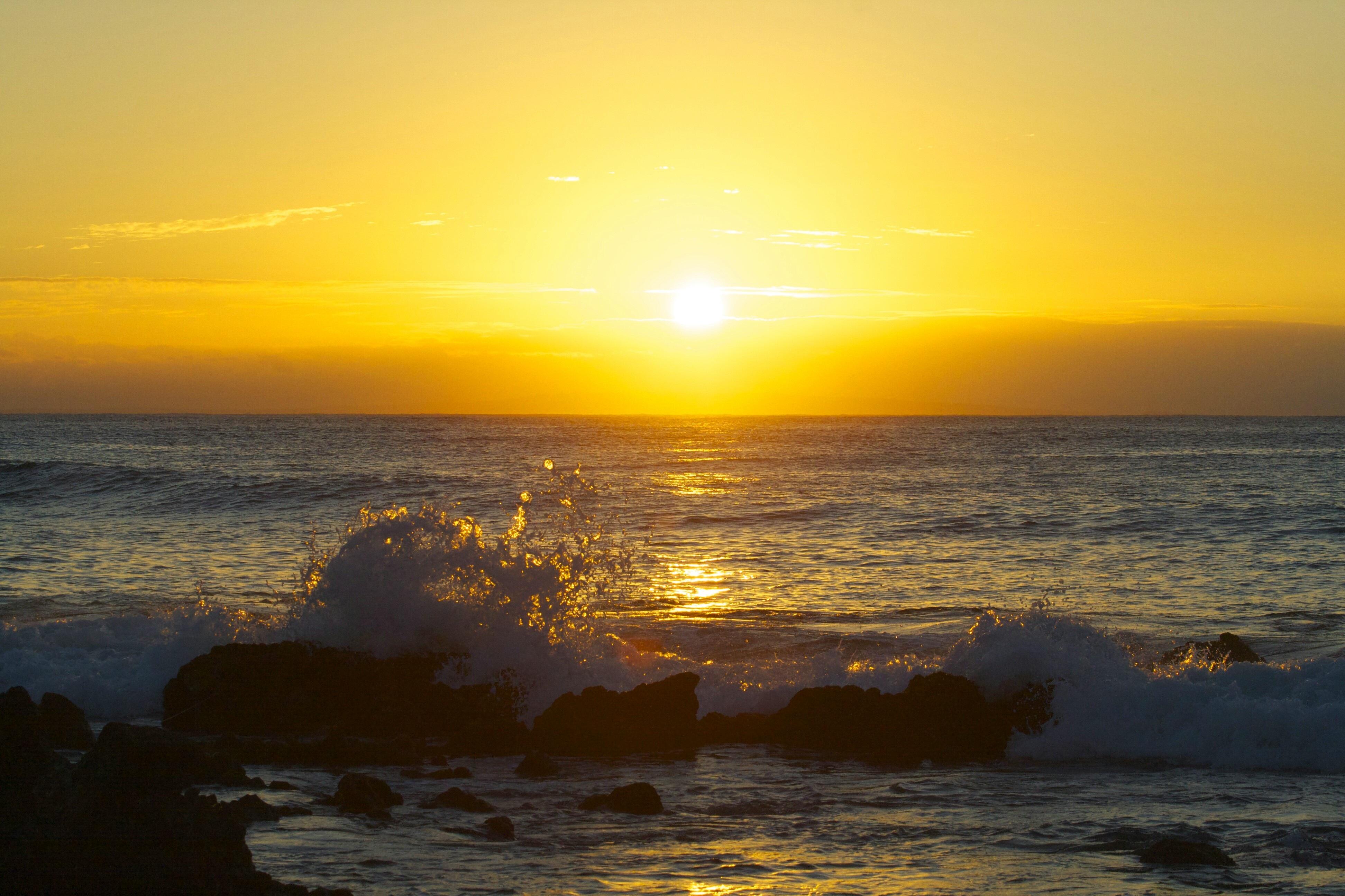 Free Images : beach, sea, coast, sand, ocean, horizon, sun