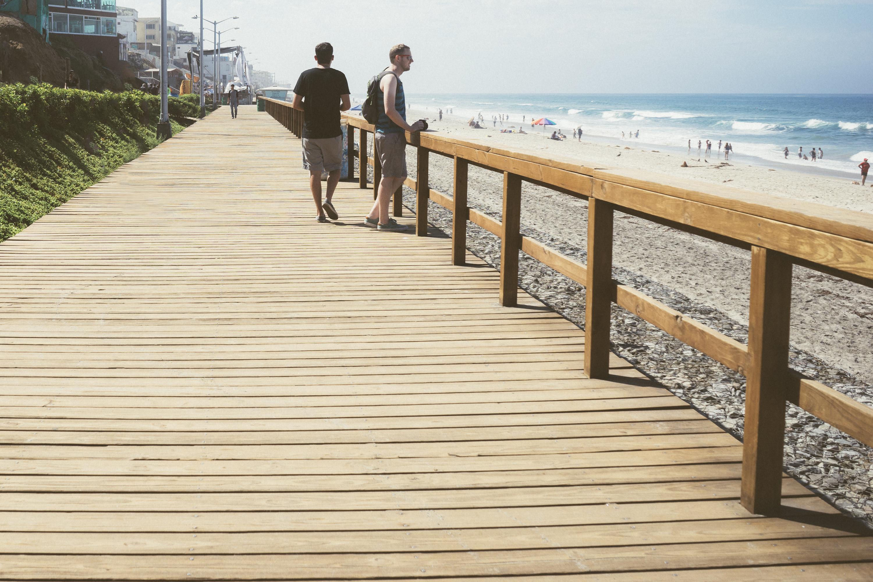 Free Images : beach, sea, dock, people, deck, boardwalk ...
