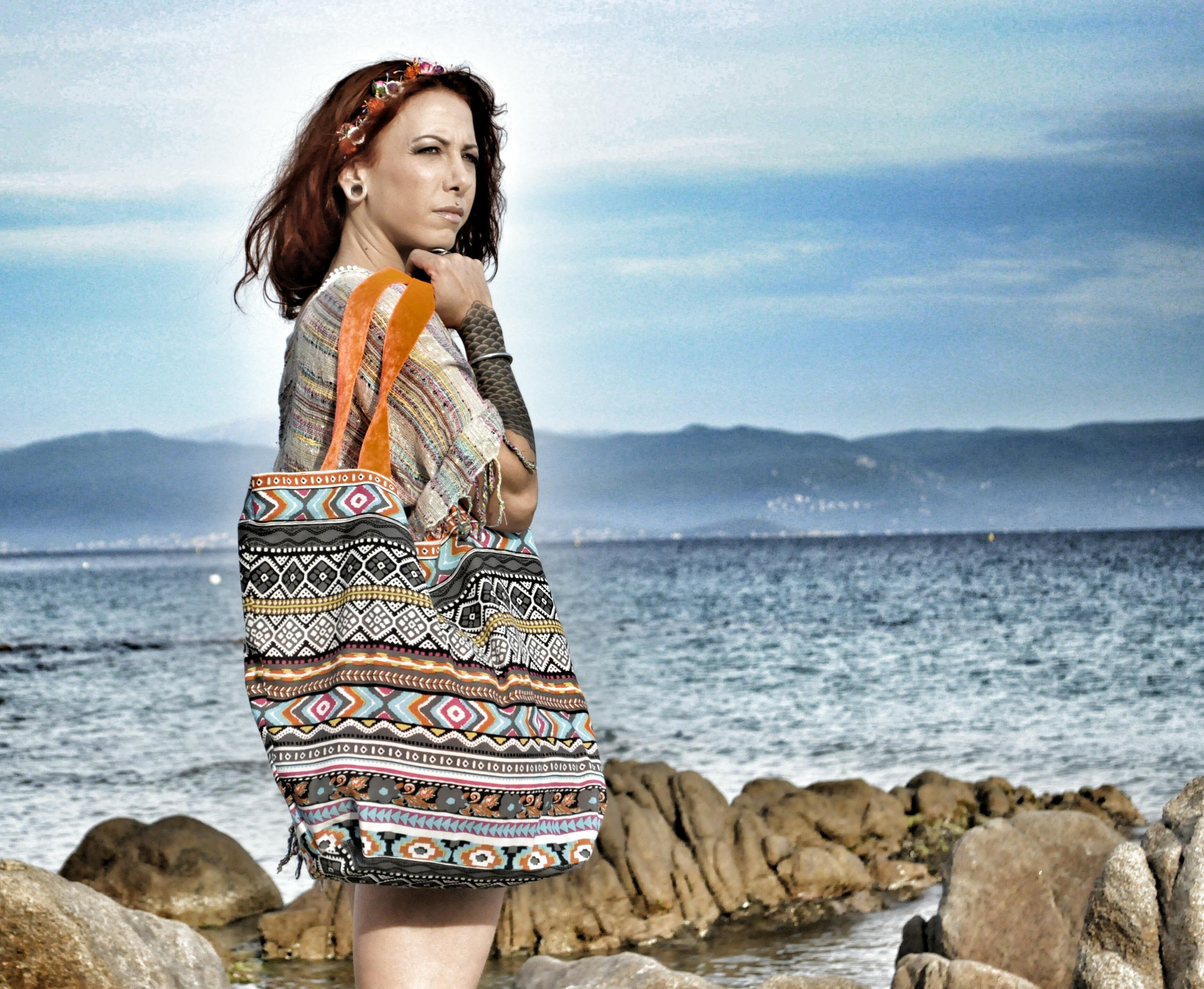 9b4a6d26312e8 plaj deniz kız kadın fotoğrafçılık kadın Model Bahar sırt çantası moda  Giyim sezon elbise güzellik Mod