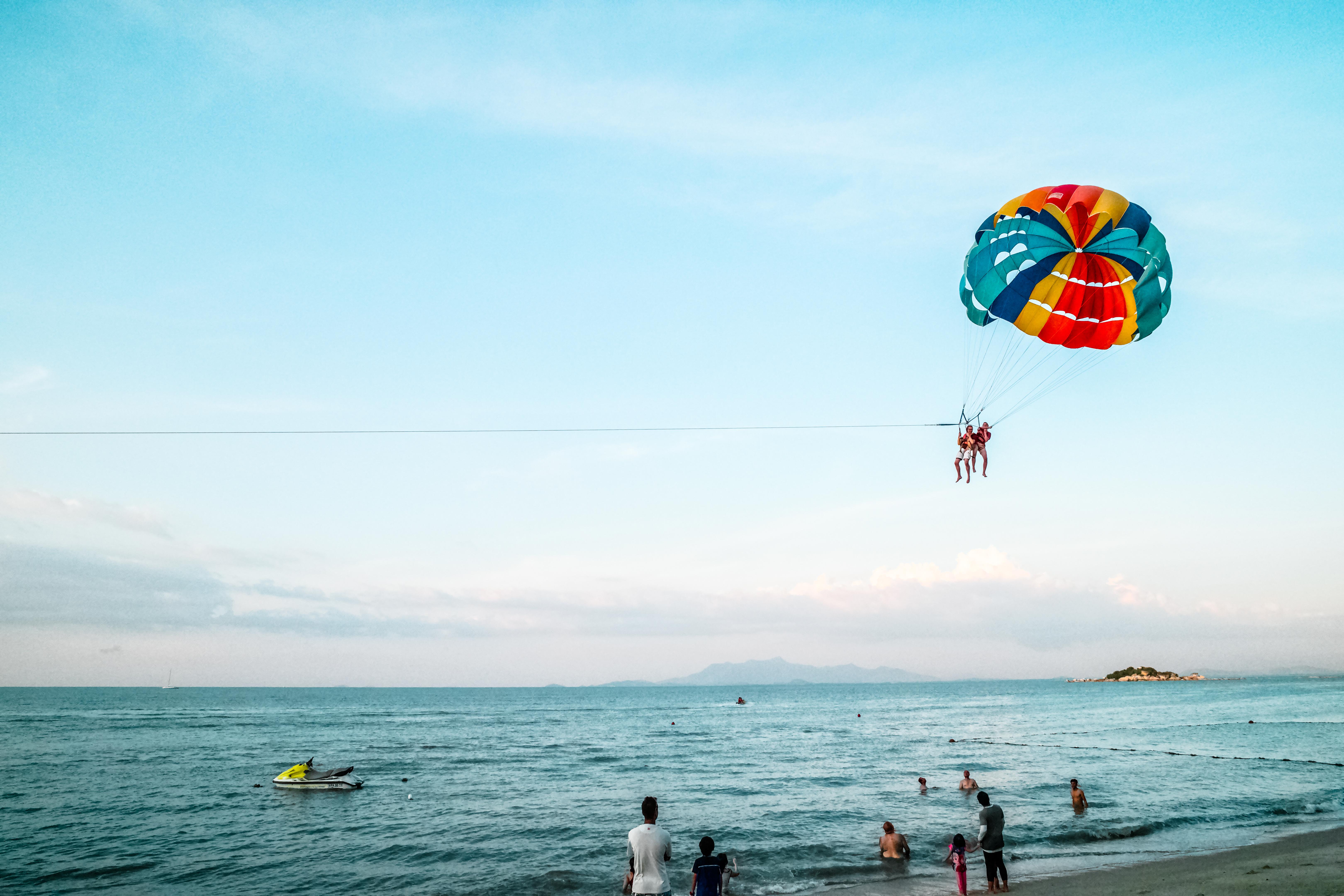 Immagini Belle Spiaggia Persone Avventura Estate Vacanza