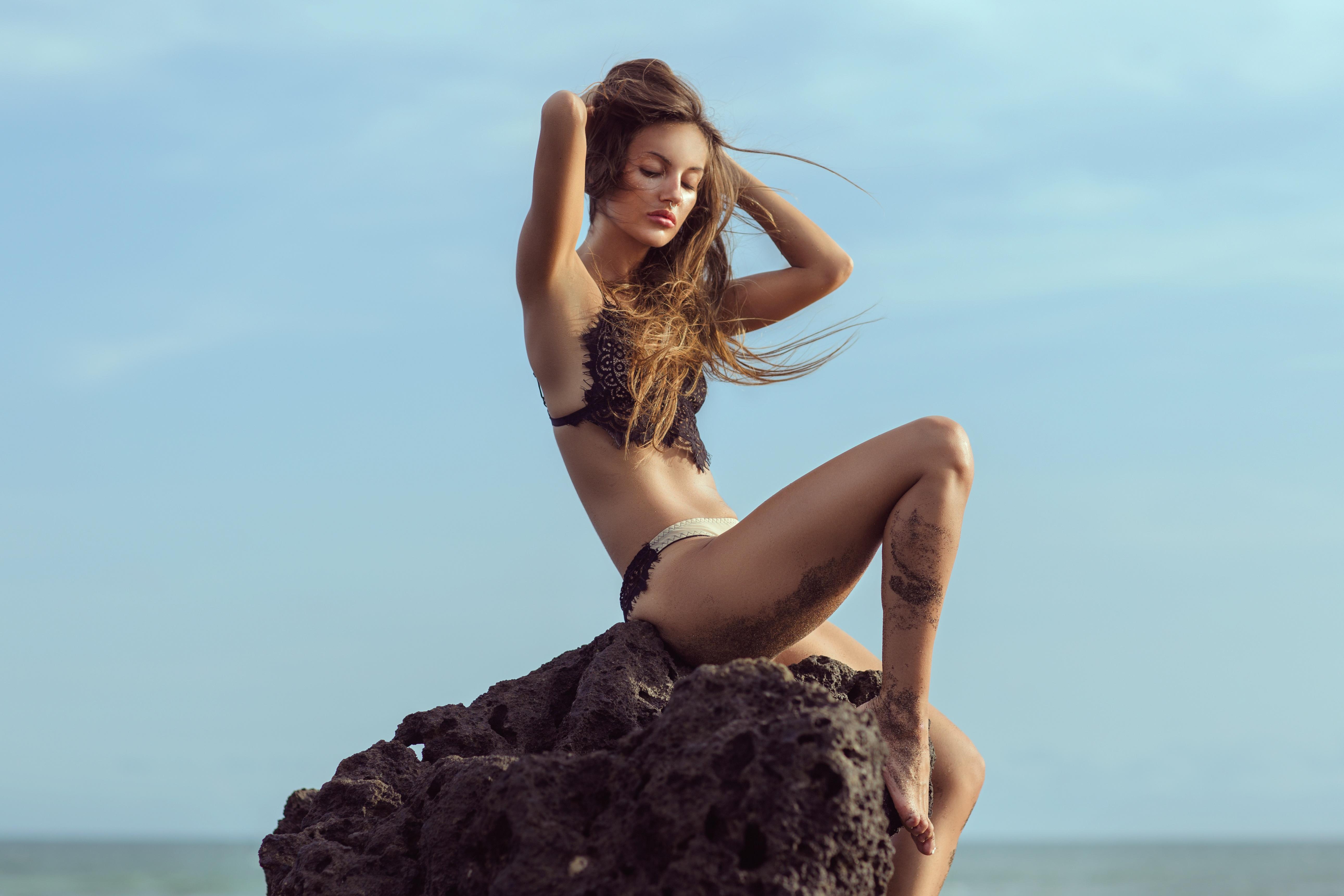 Poze Plajă Mare Persoană Fată Femeie Fotografie