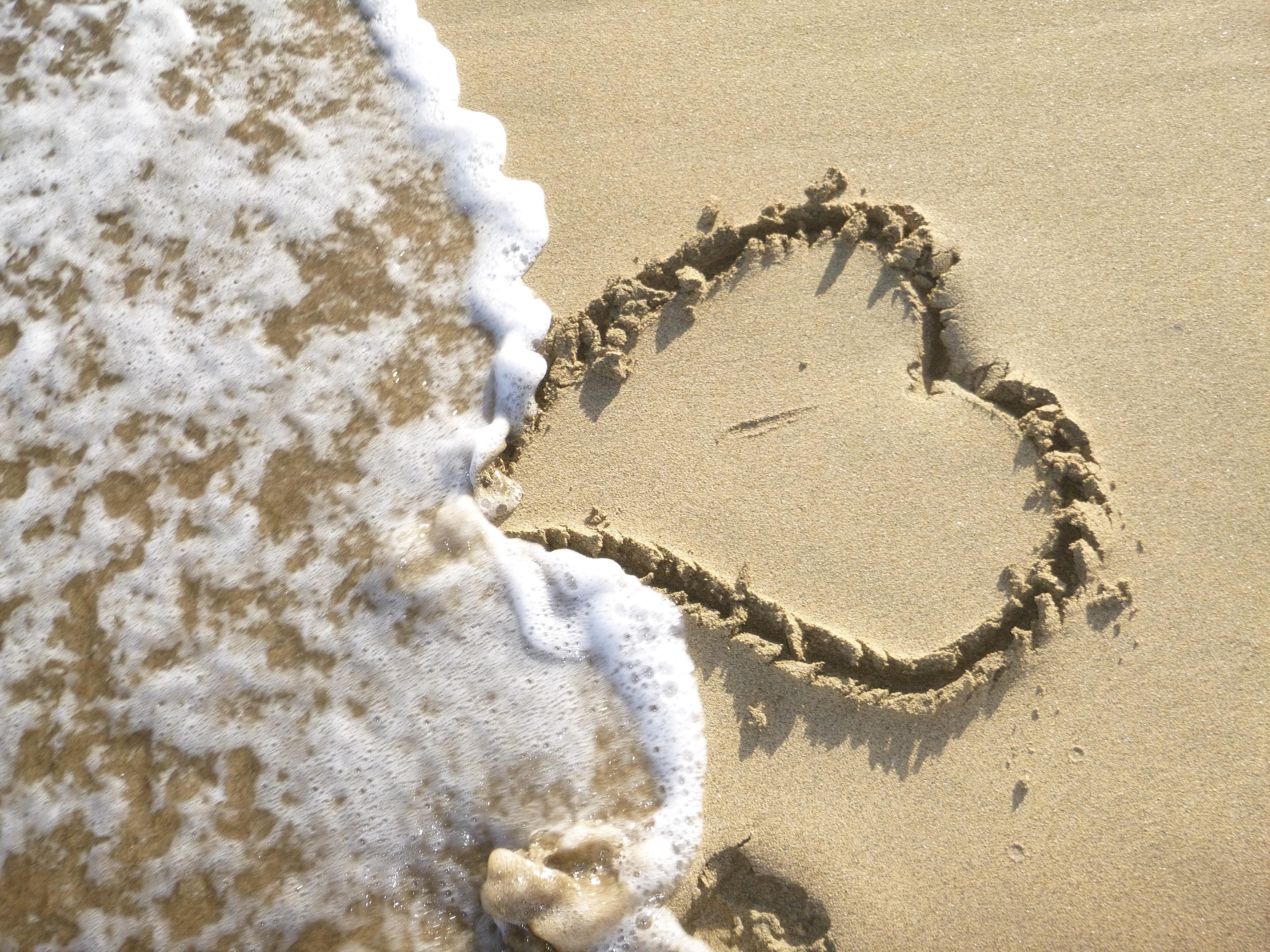 Immagini Belle Spiaggia Mare Sabbia Amore Cuore Materiale