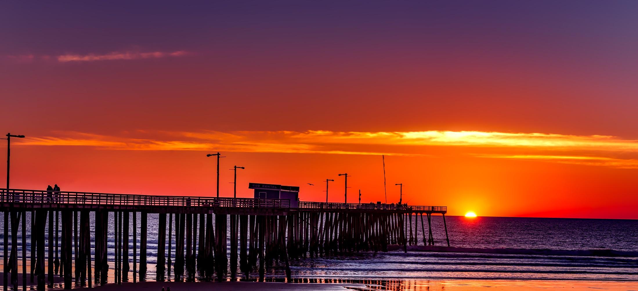 Stunning California Beach House Inspired By The Horizon: Free Images : Sea, Sand, Ocean, Horizon, Silhouette