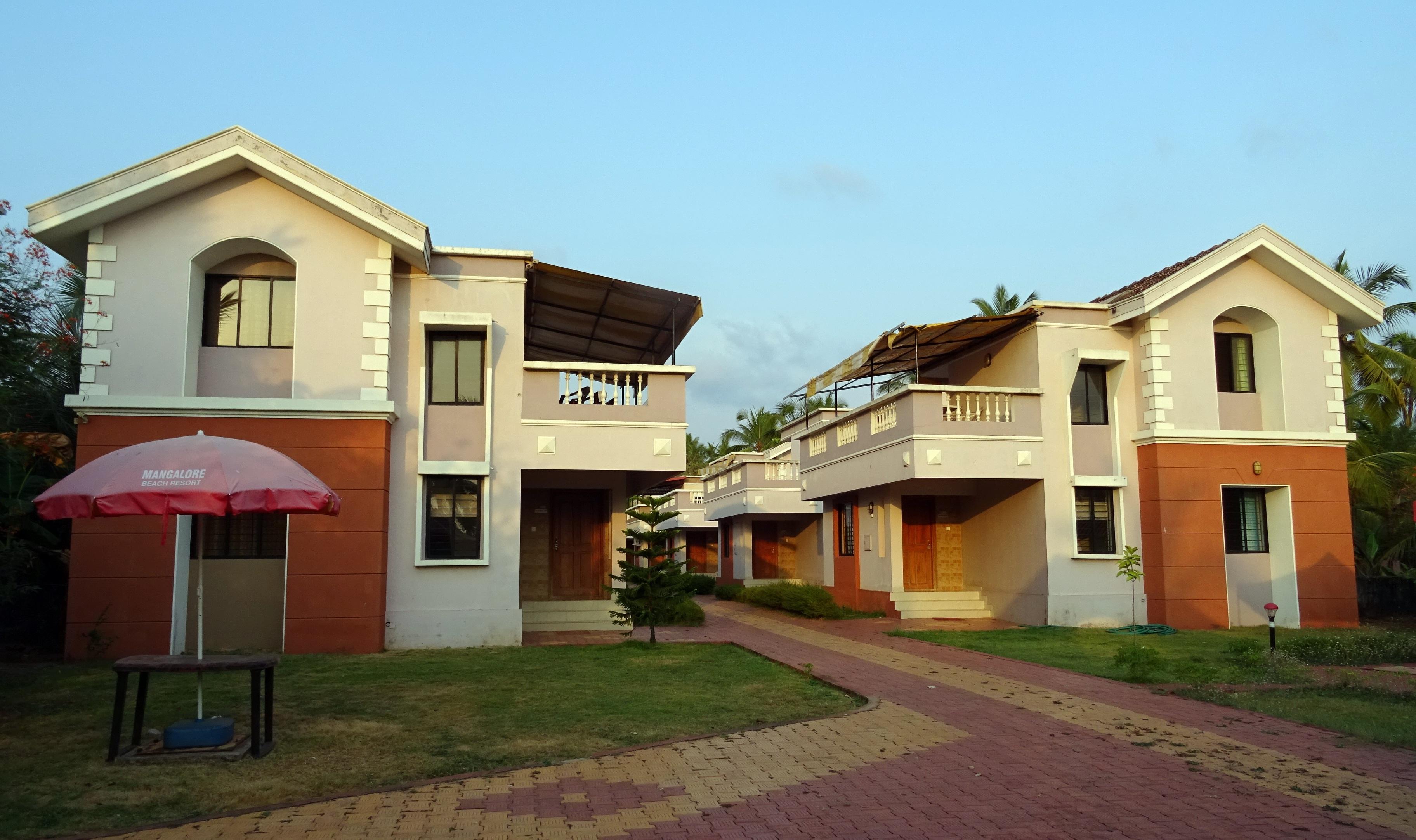Gambar Laut Pasir Vila Rumah Besar Bangunan Liburan