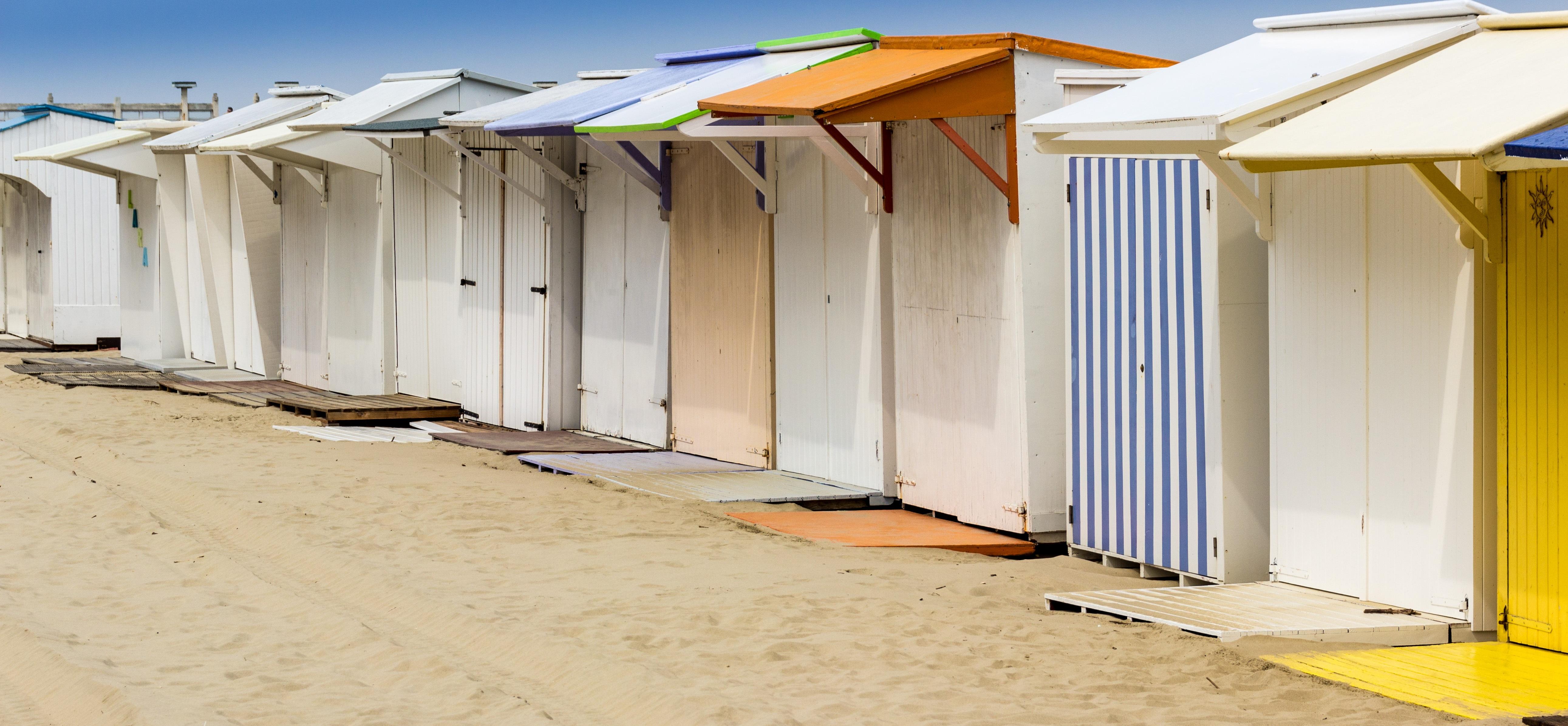 пляжные кабины на море - 9