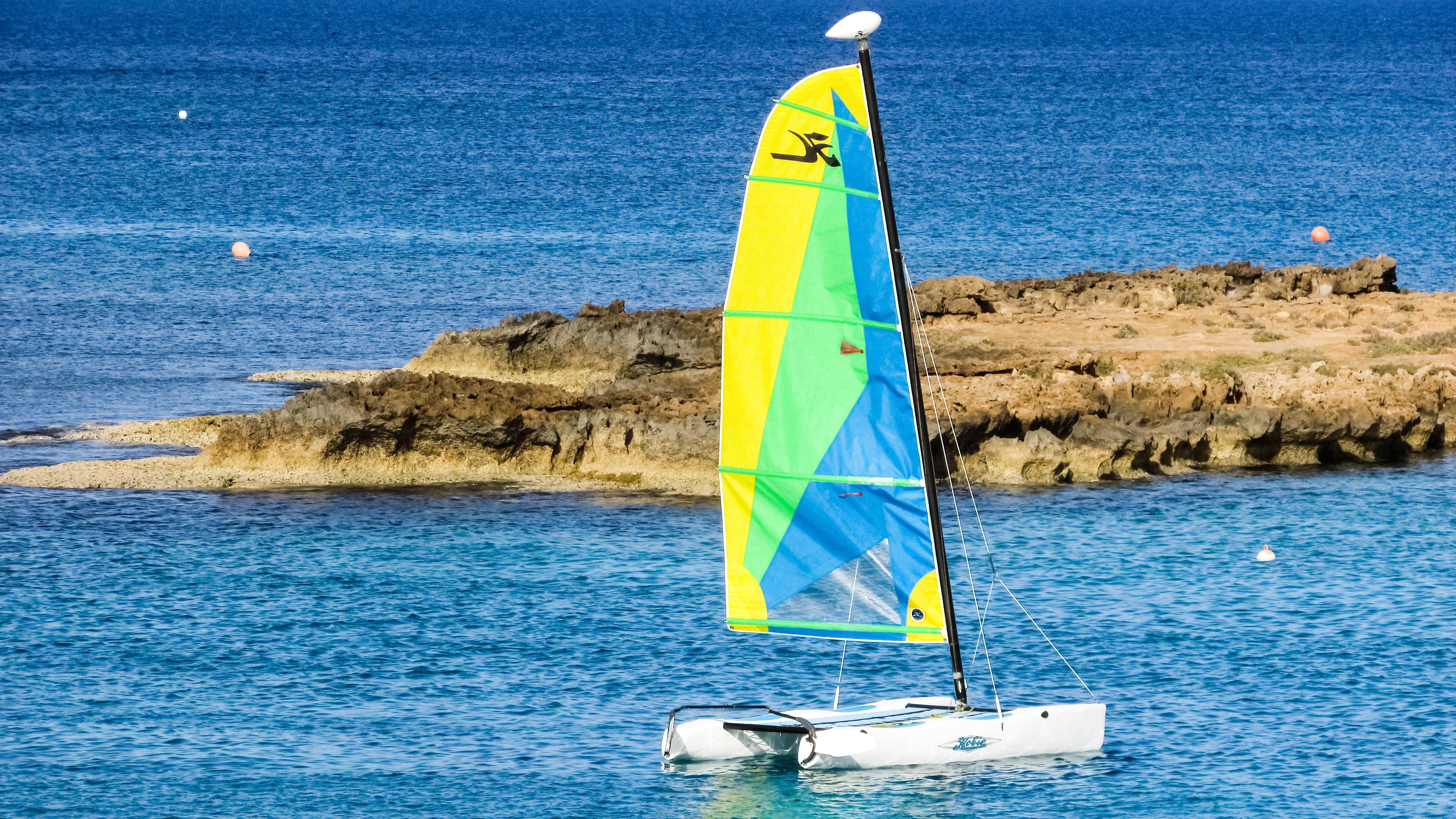 Katamaran segeln sport  Kostenlose foto : Strand, Meer, Sport, Boot, Wind, Ferien ...