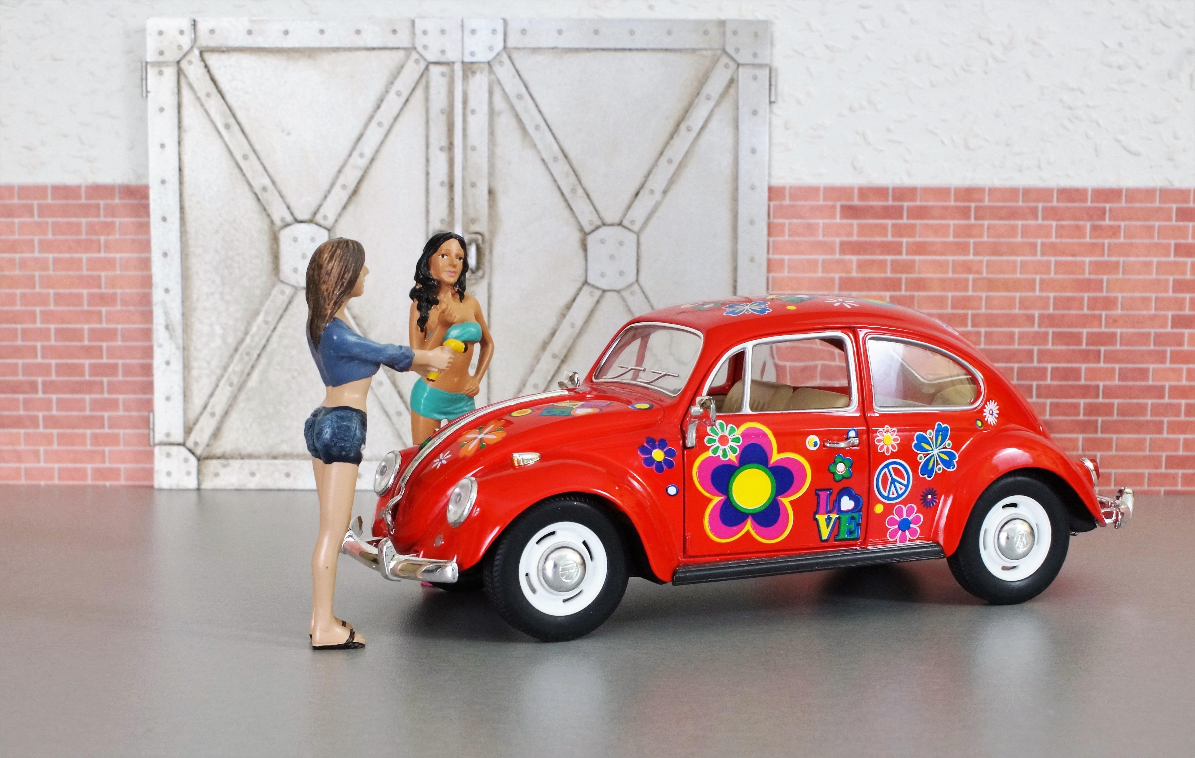 Free Images : beach, woman, vw, auto, toy, old car, bikini ...