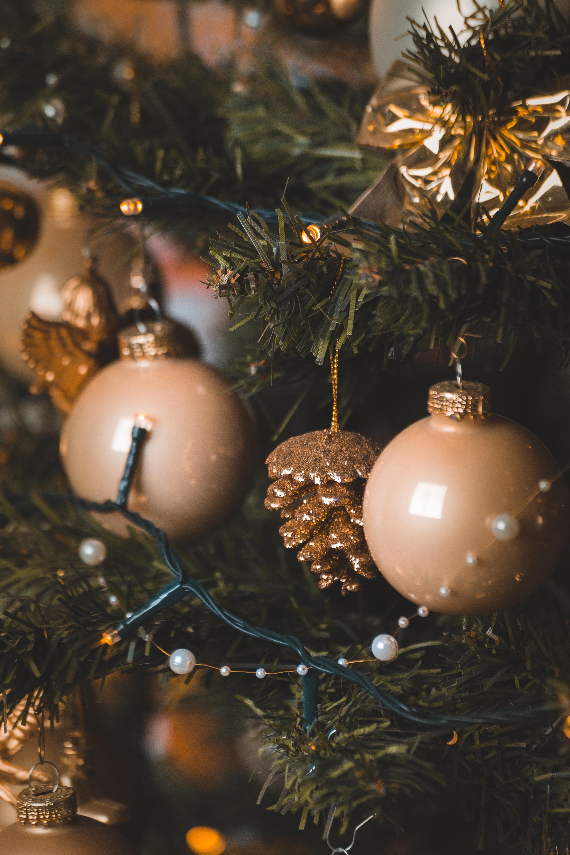 Weihnachtsbeleuchtung Tannenzapfen.Kostenlose Foto Perlen Verwischen Weihnachtskugeln