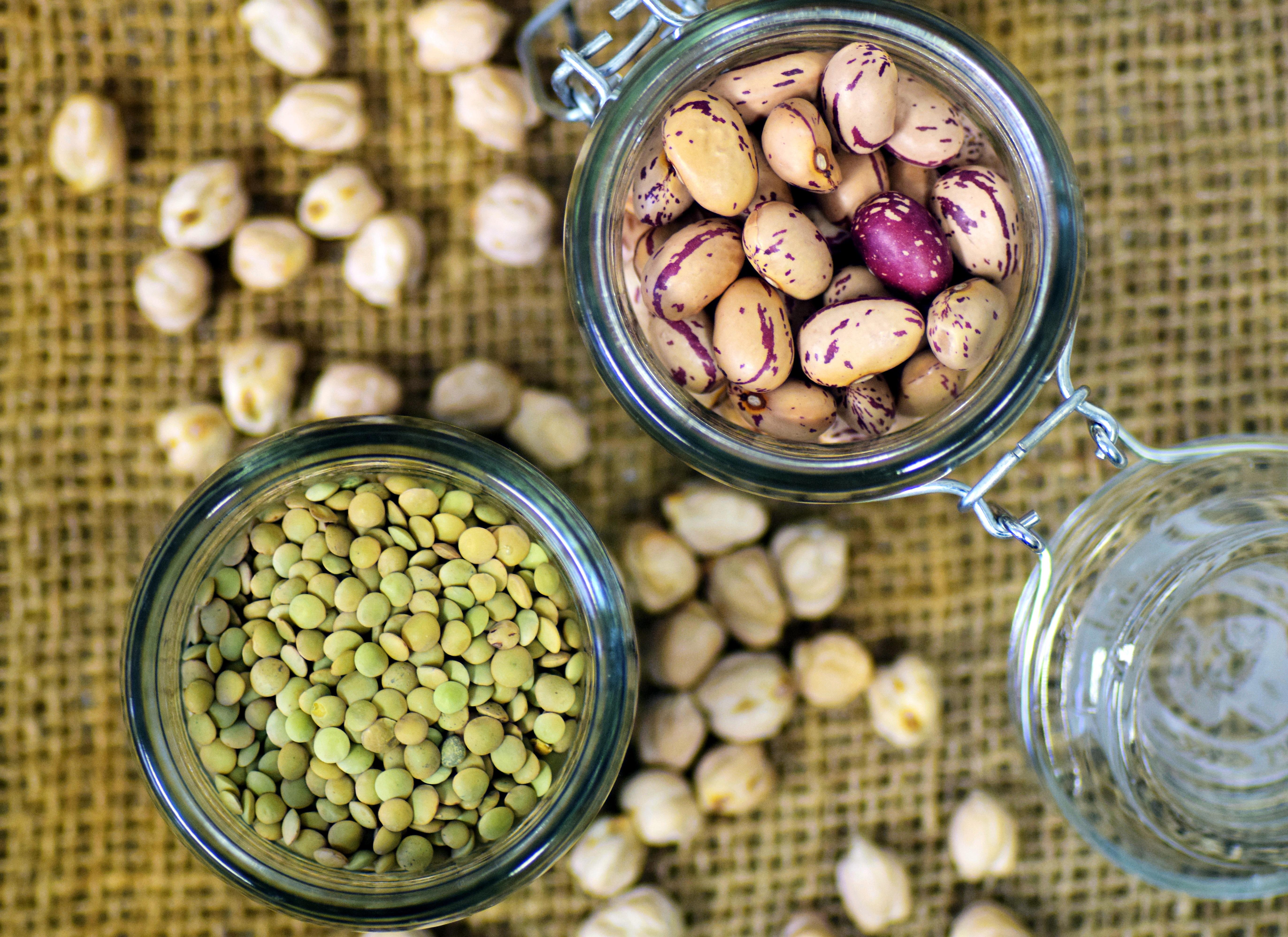 Kacang Polong Lensa Puyuh Kacangan Makanan Tanpa Daging Sehat Vegan Vegetarian Lezat