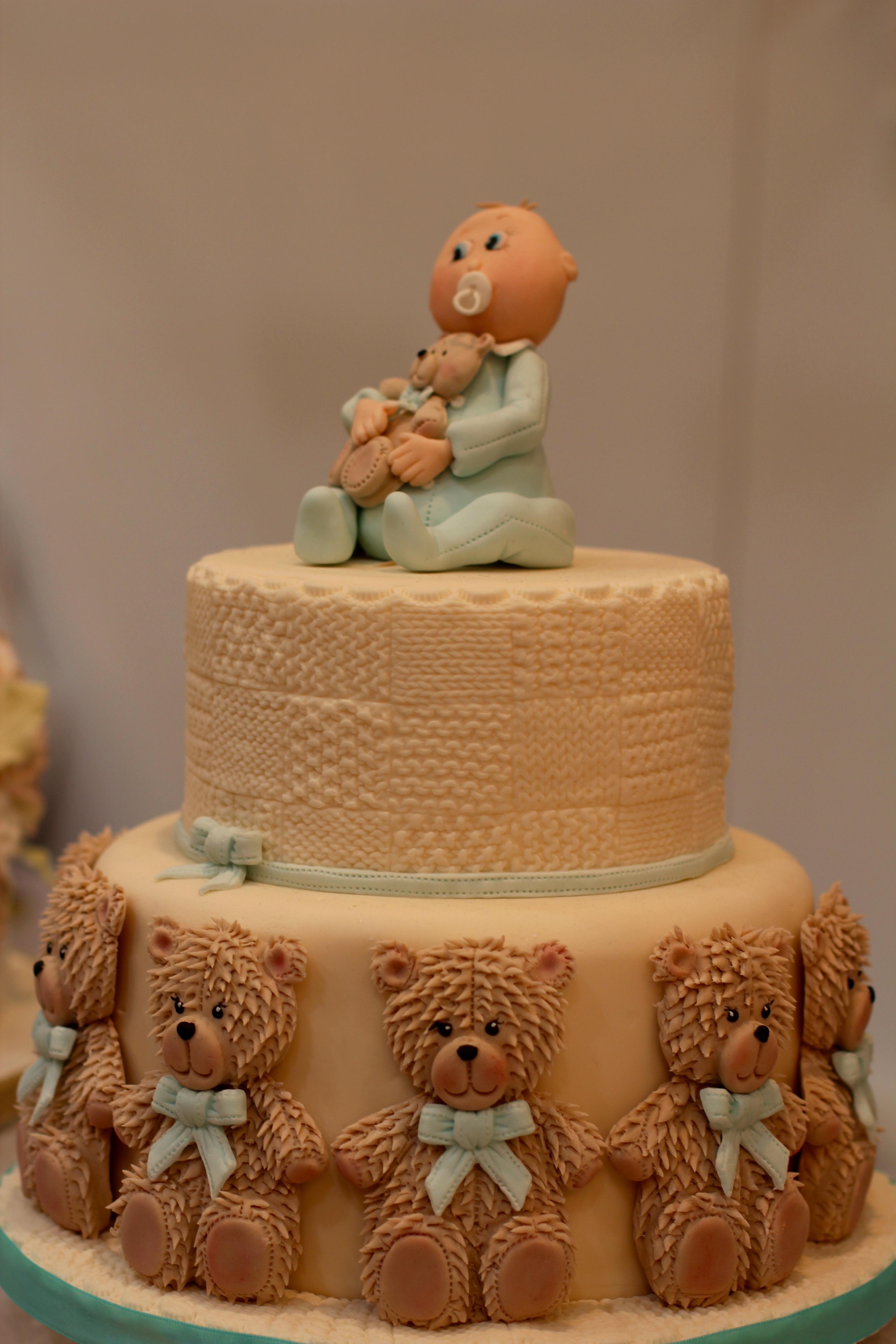 Bear Food Dessert Cake Happy Birthday Teddy Icing Pastry Shop Wedding