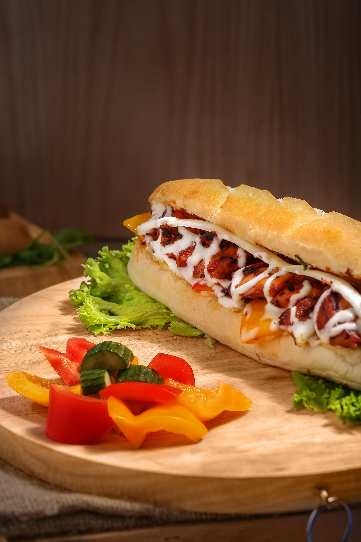 Kostenlose Foto Rindfleisch Brot Frühstück Brötchen Nahansicht