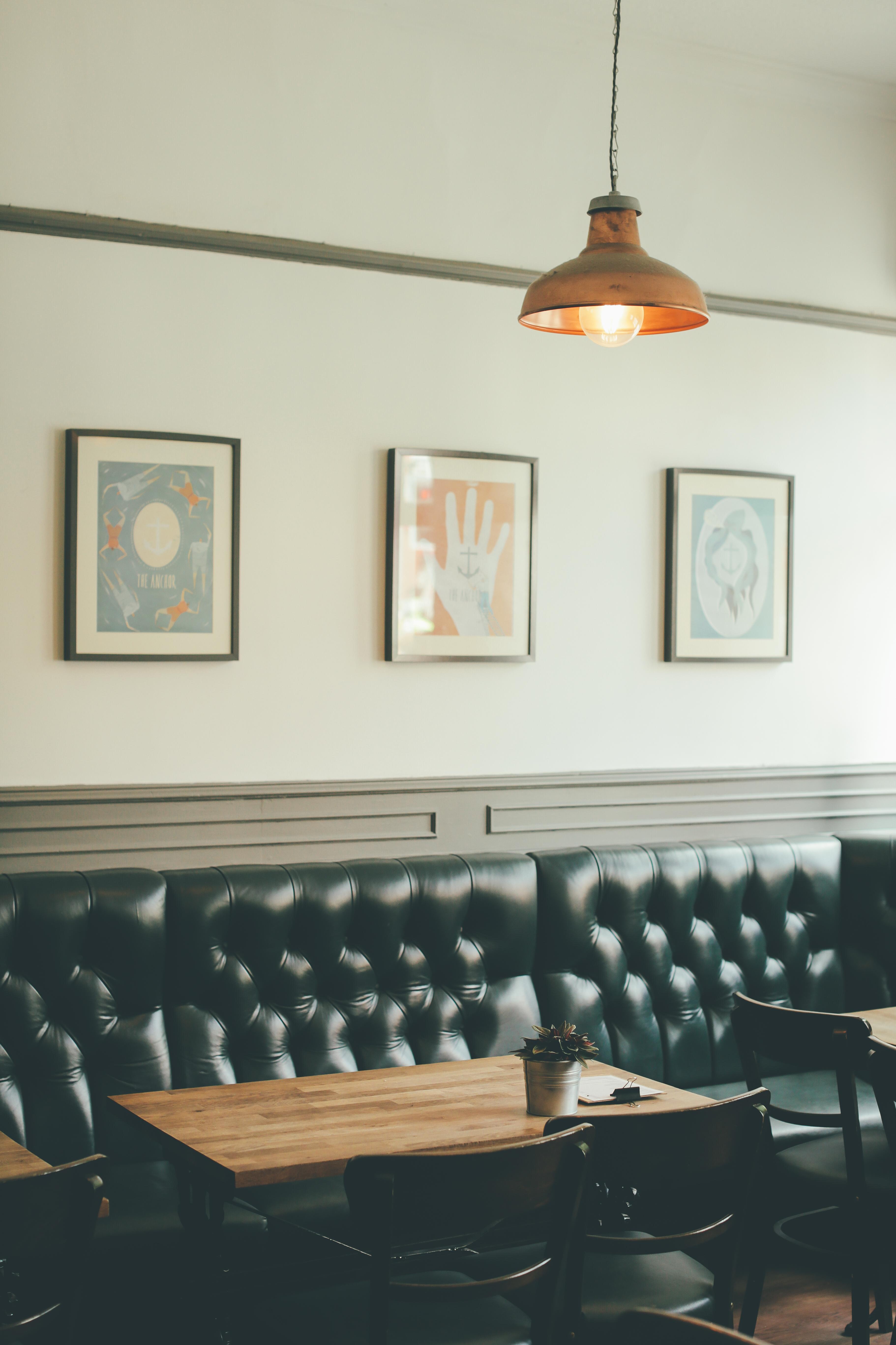 Kostenlose foto : Bank, Restaurant, Zuhause, Decke, Küche ...