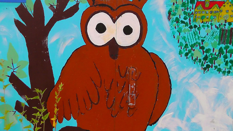 Gambar Hewan Burung Hantu Karya Seni Lukisan Ilustrasi