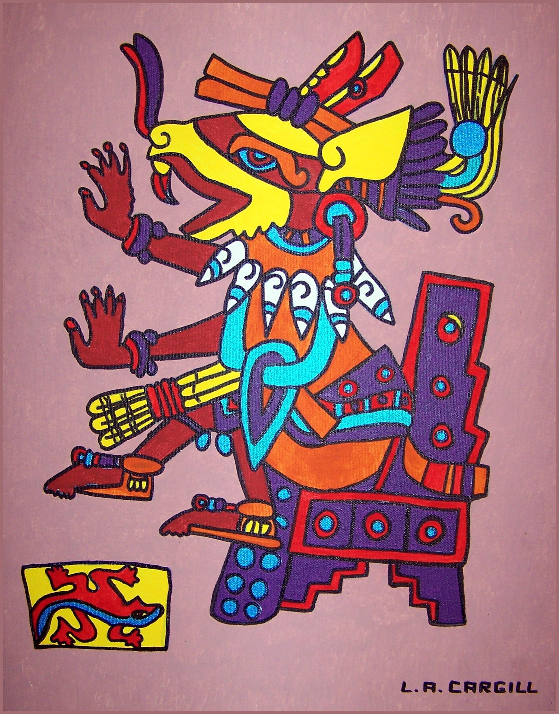 Gambar Burung Aztec Seni Ilustrasi Budaya Angka Angka Allah