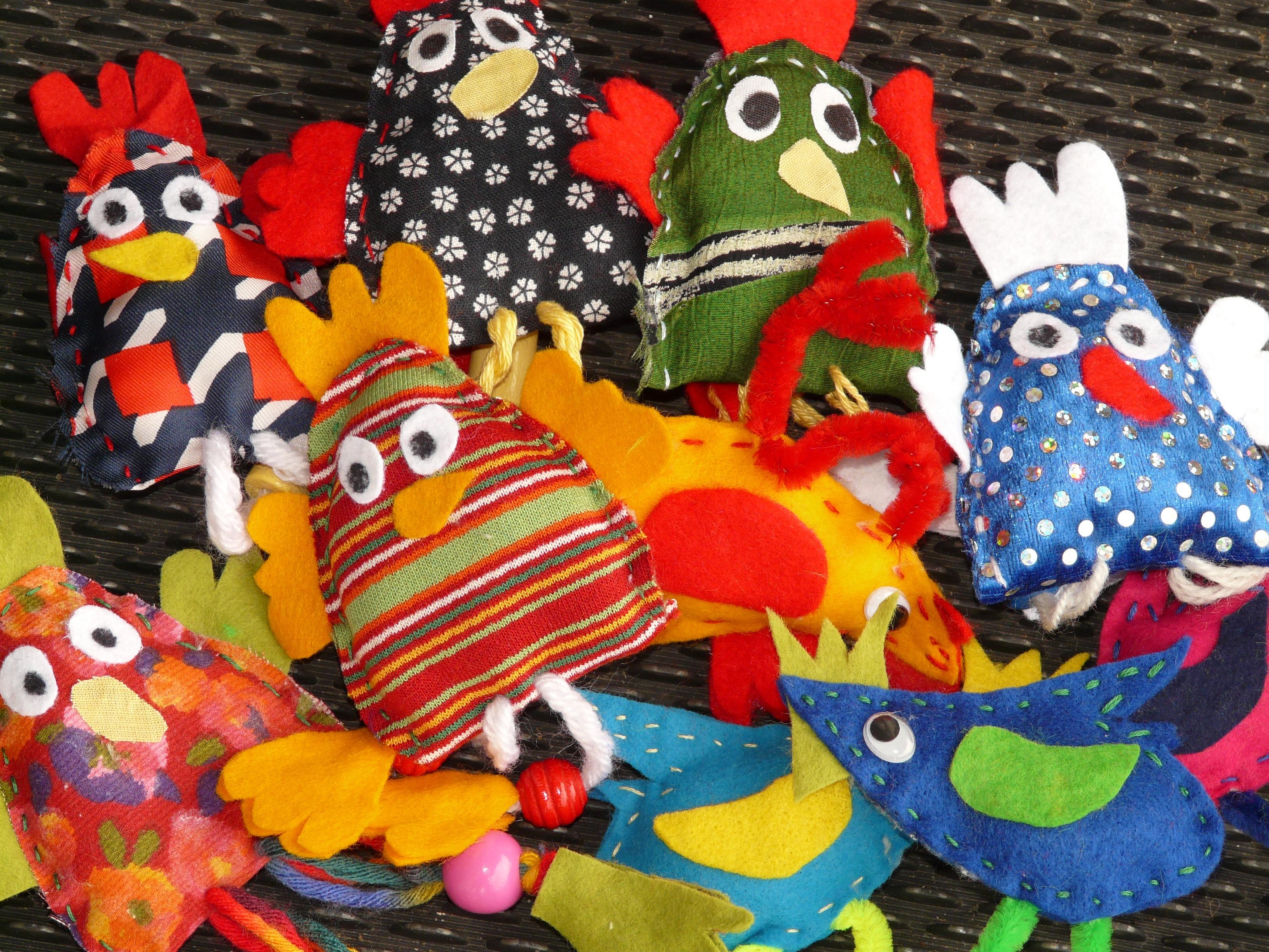 Kostenlose foto : Vogel, Farbe, bunt, Spielzeug, Hähnchen, Stoff ...