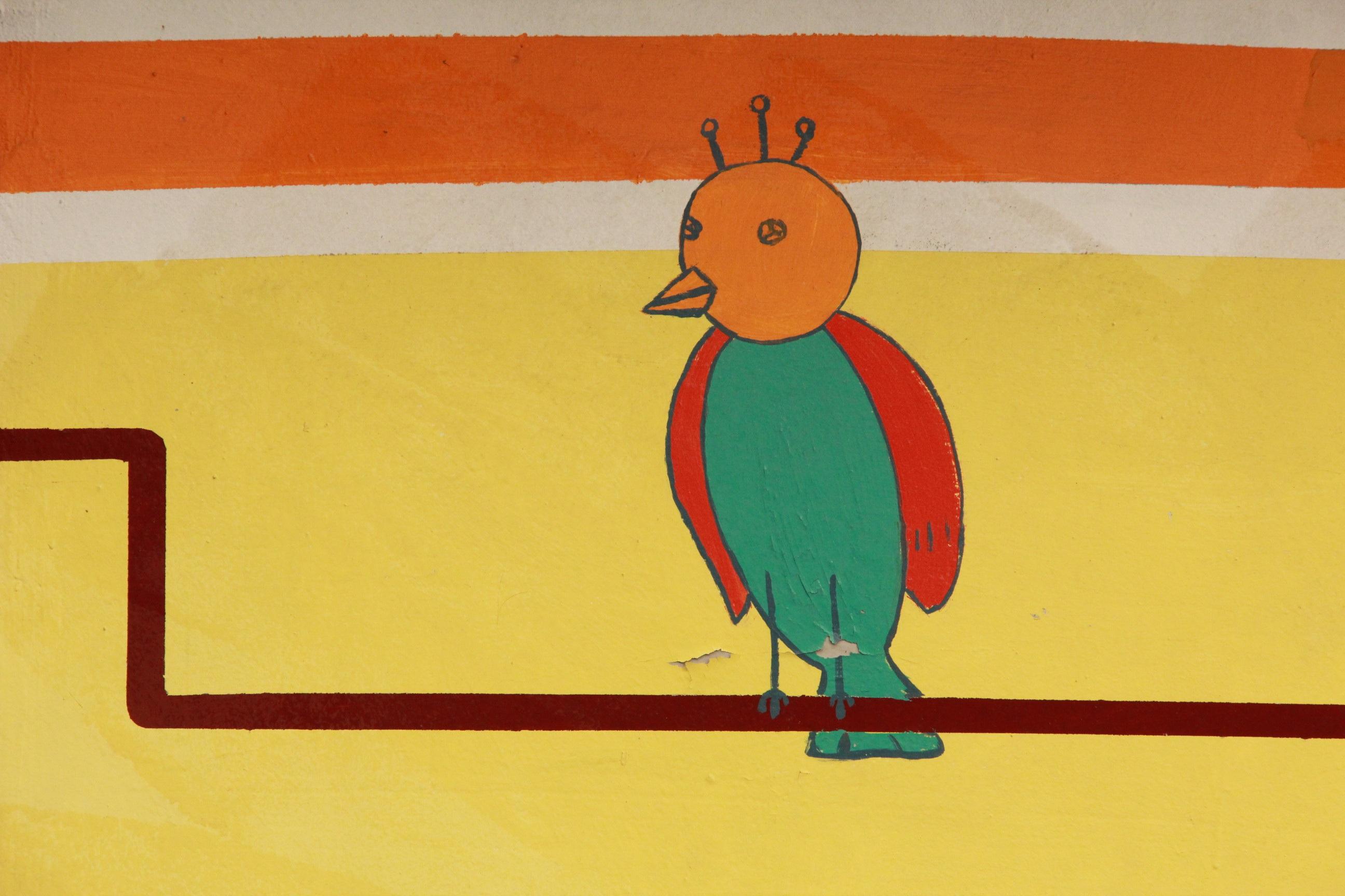 Gambar Warna Kuning Angka Ilustrasi Lukisan Dinding