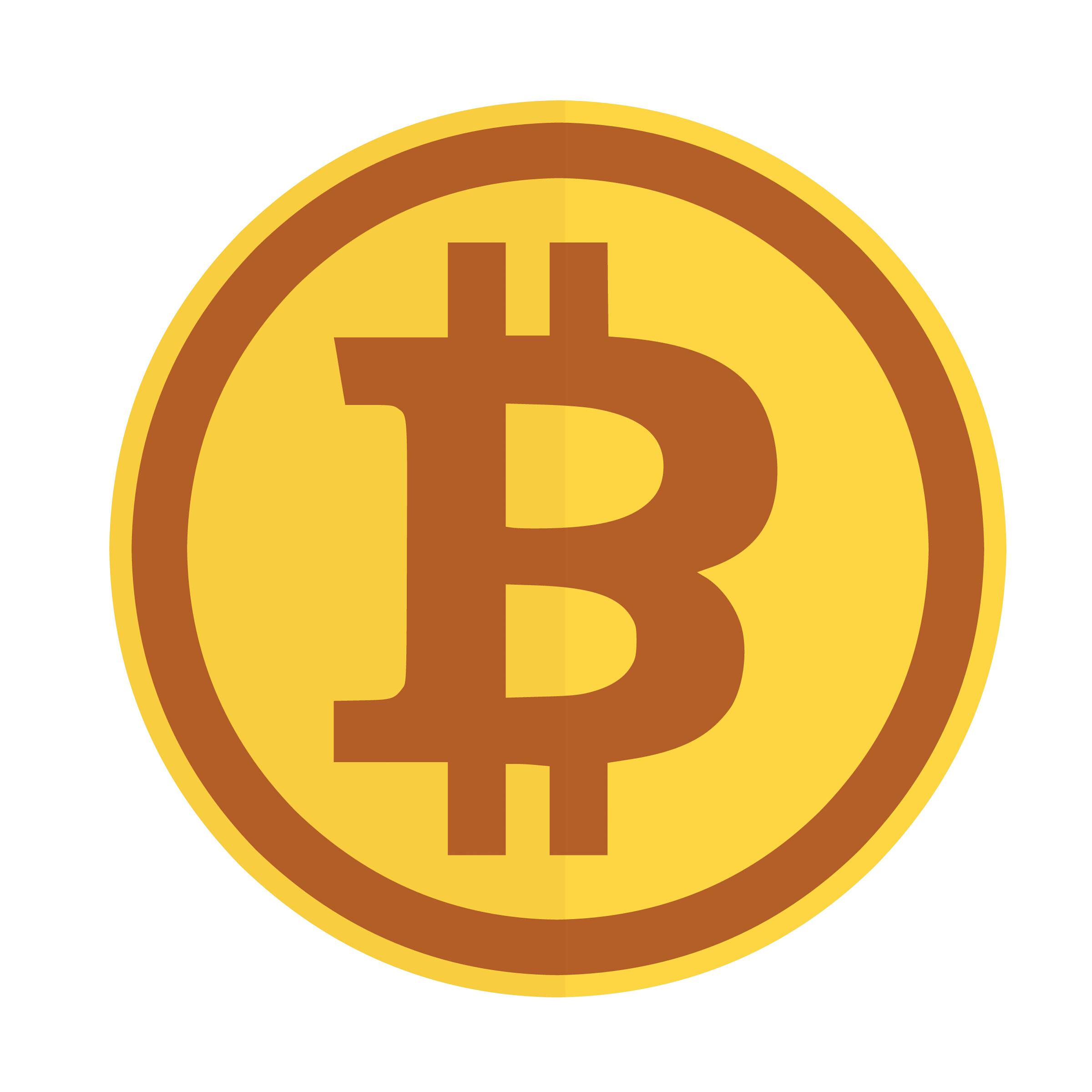 Bitcoin firmare in un cerchio con due punti collegano simbolo Icone Gratuite