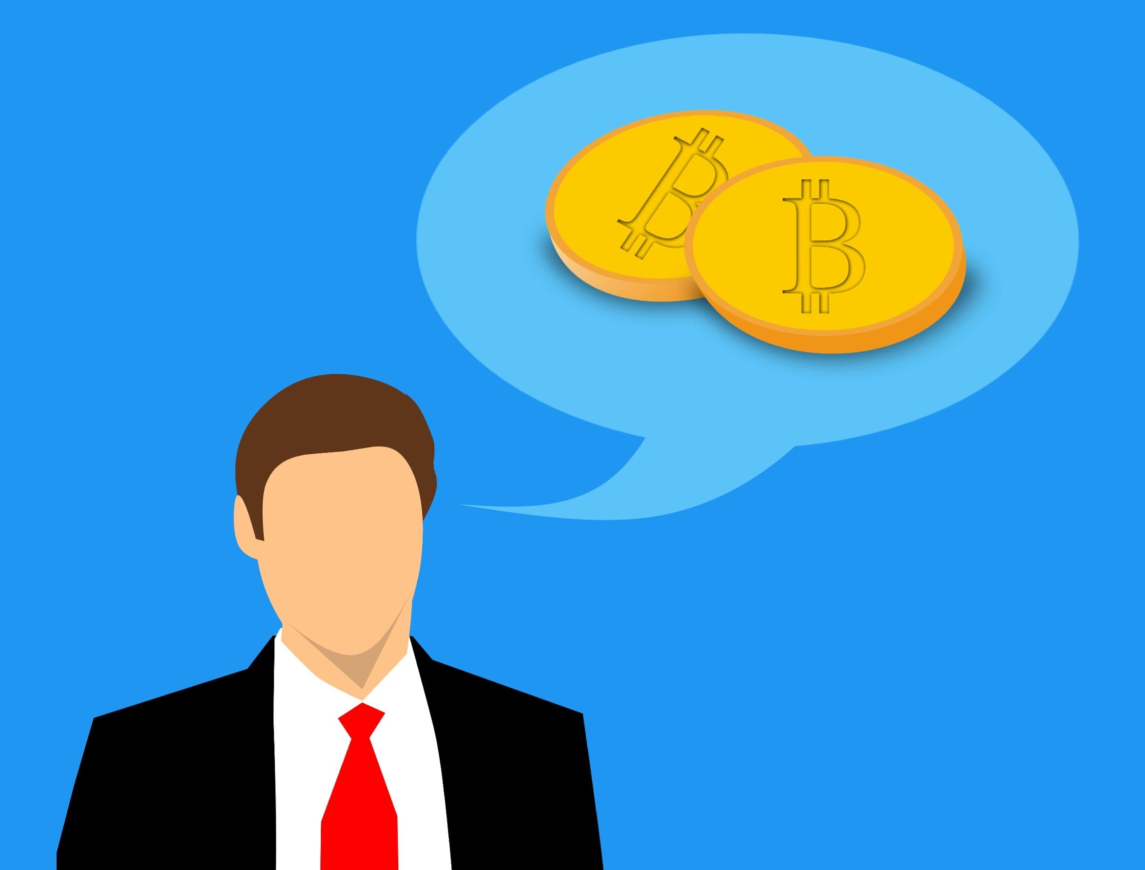 Gambar Bitcoin Investasi Berpikir Uang Money Thought