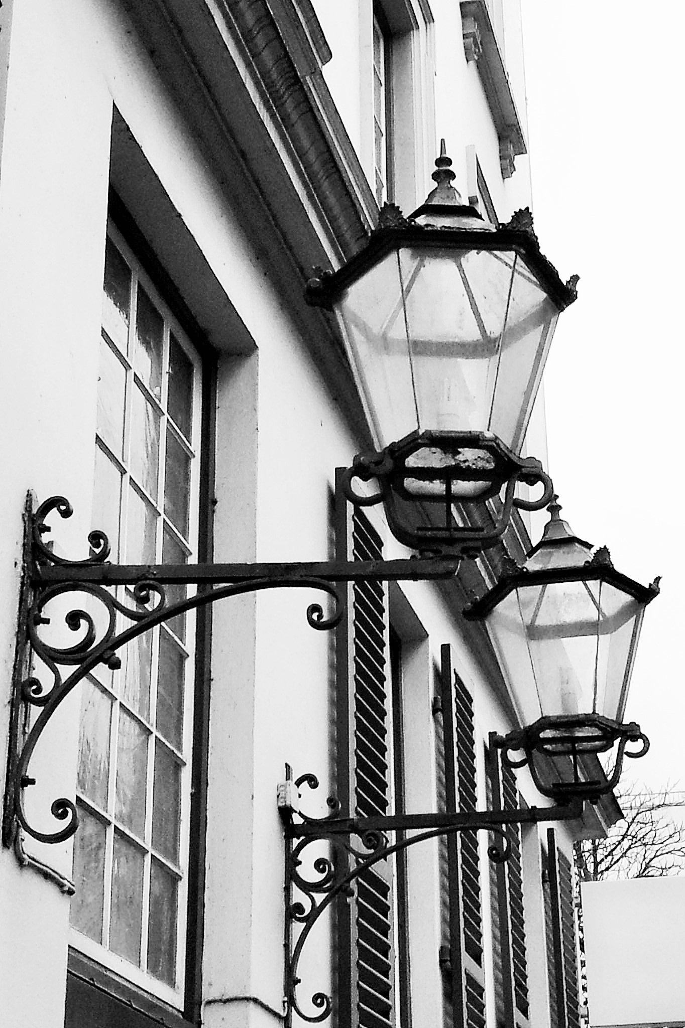 Gambar Hitam Dan Putih Arsitektur Antik Jendela Bangunan Tua