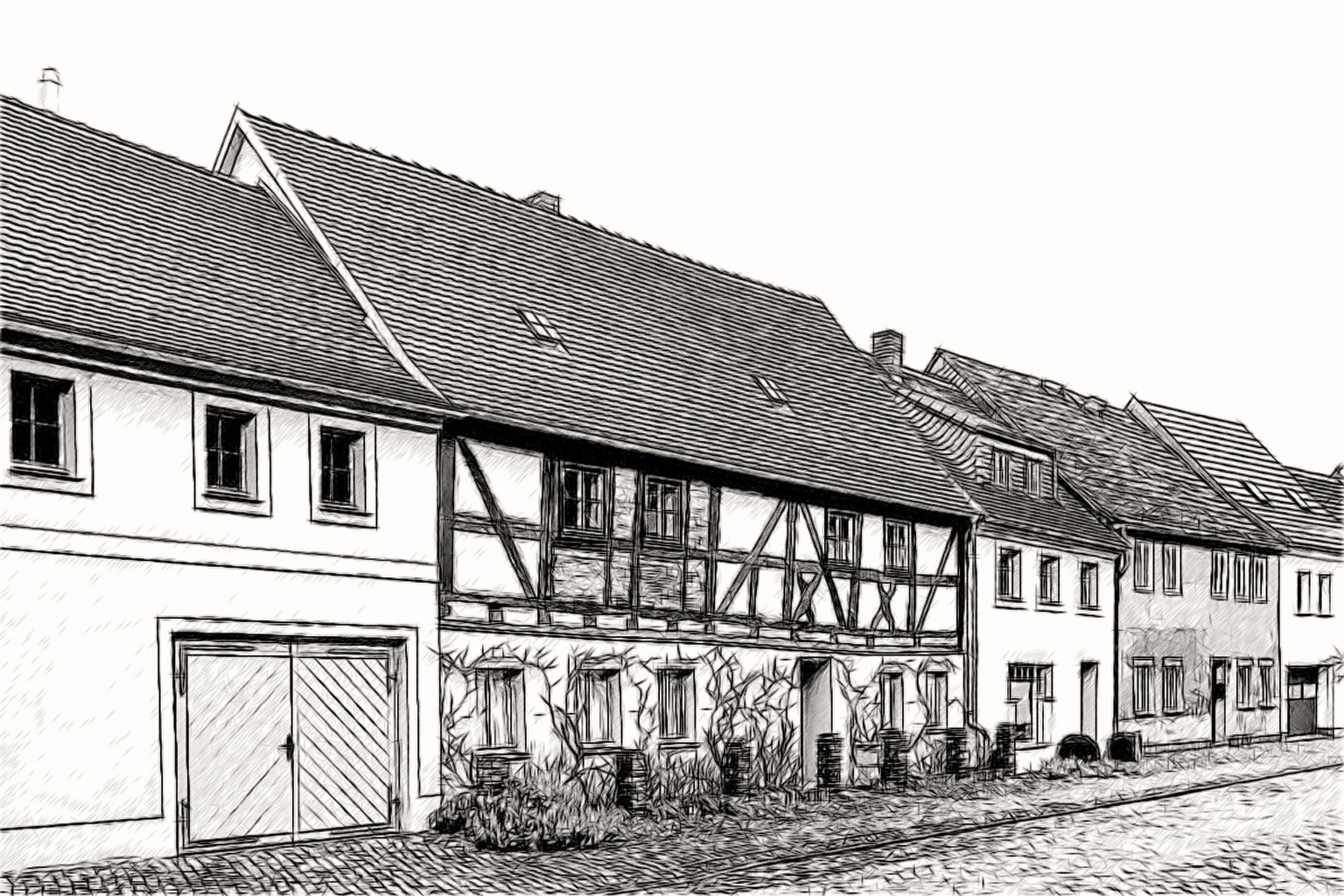 Architecture maison dessin for Dessin architecture maison