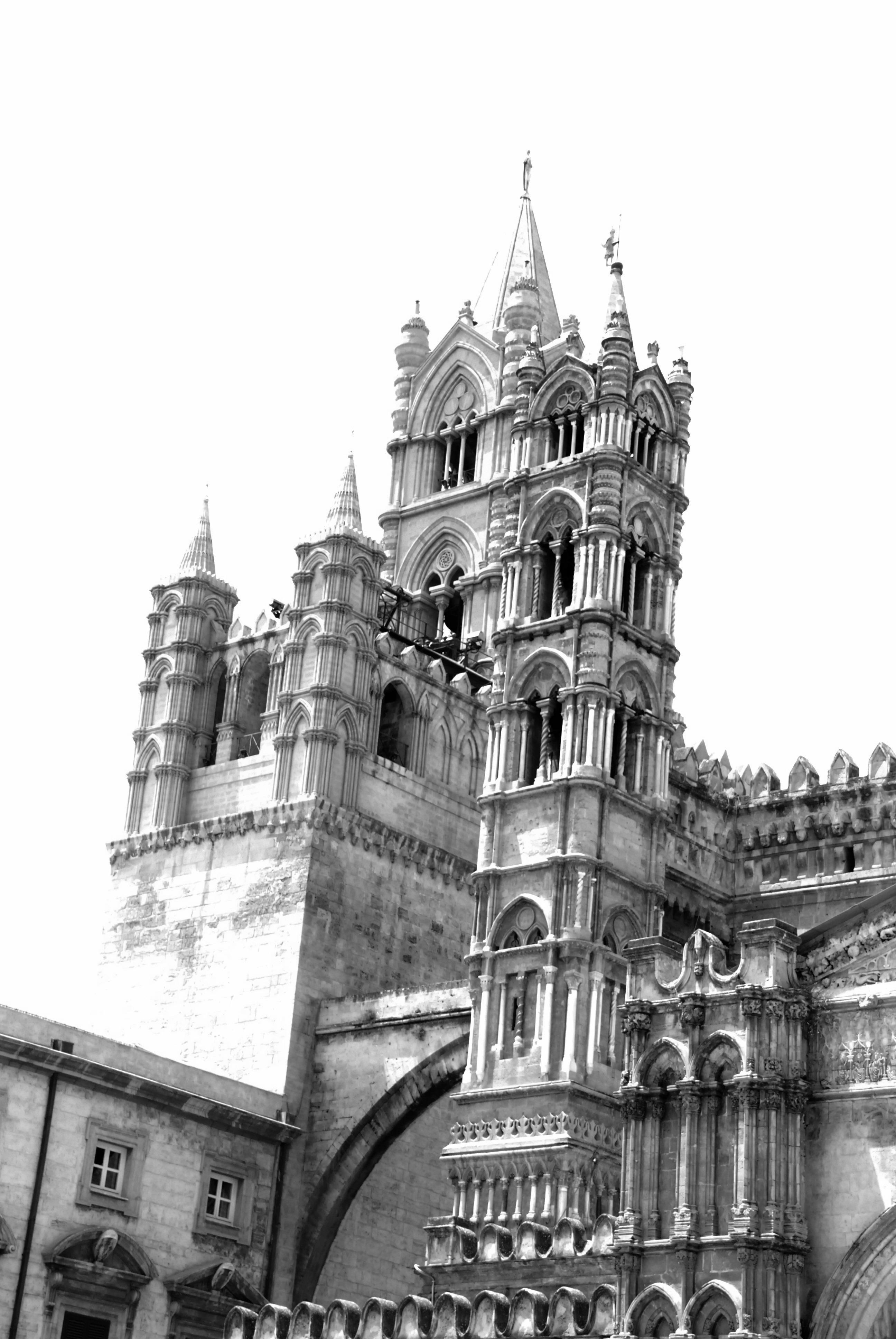 Gambar : hitam dan putih, Arsitektur, bangunan, menara, tengara ...