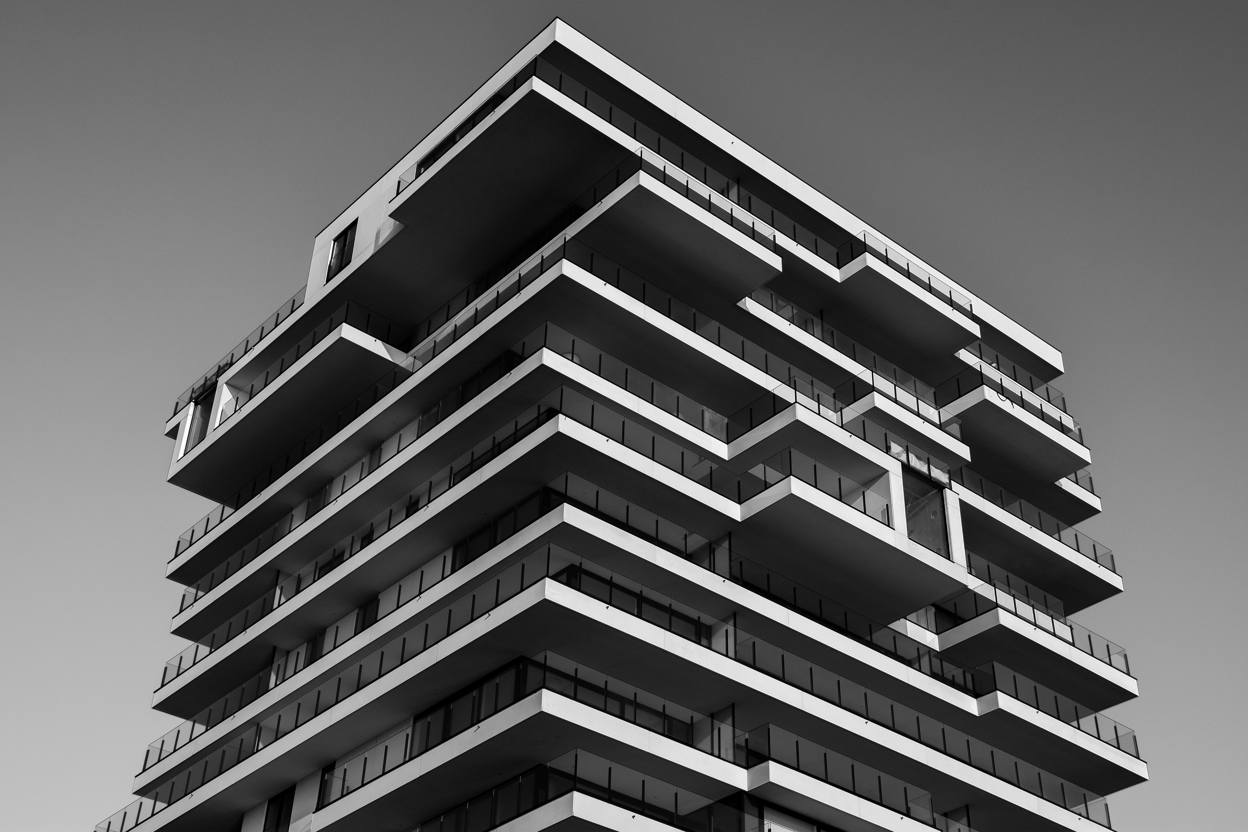 Images gratuites noir et blanc architecture maison verre